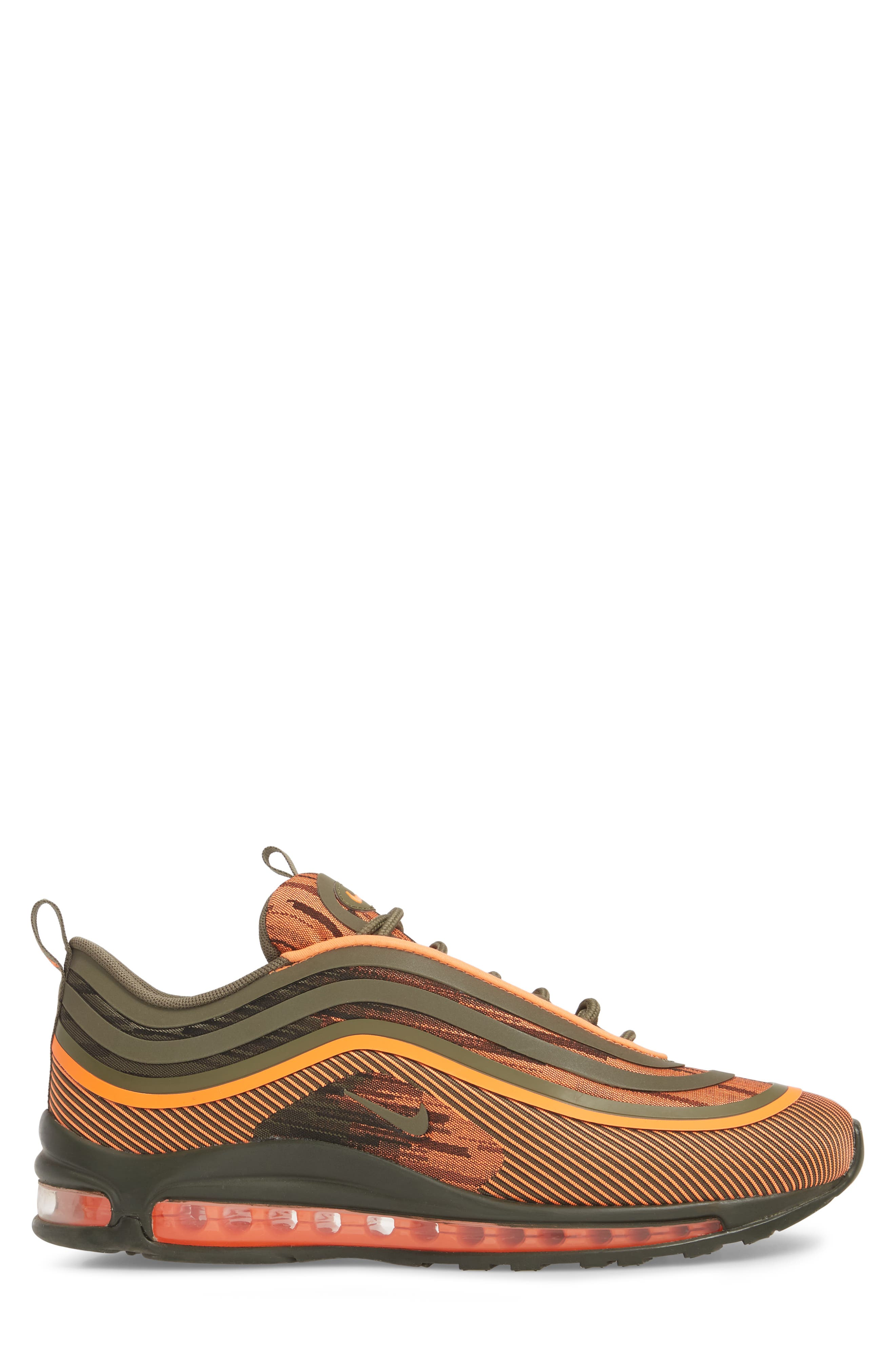 Air Max 97 Ultra '17 Sneaker,                             Alternate thumbnail 3, color,                             TOTAL ORANGE/ OLIVE/ SEQUOIA