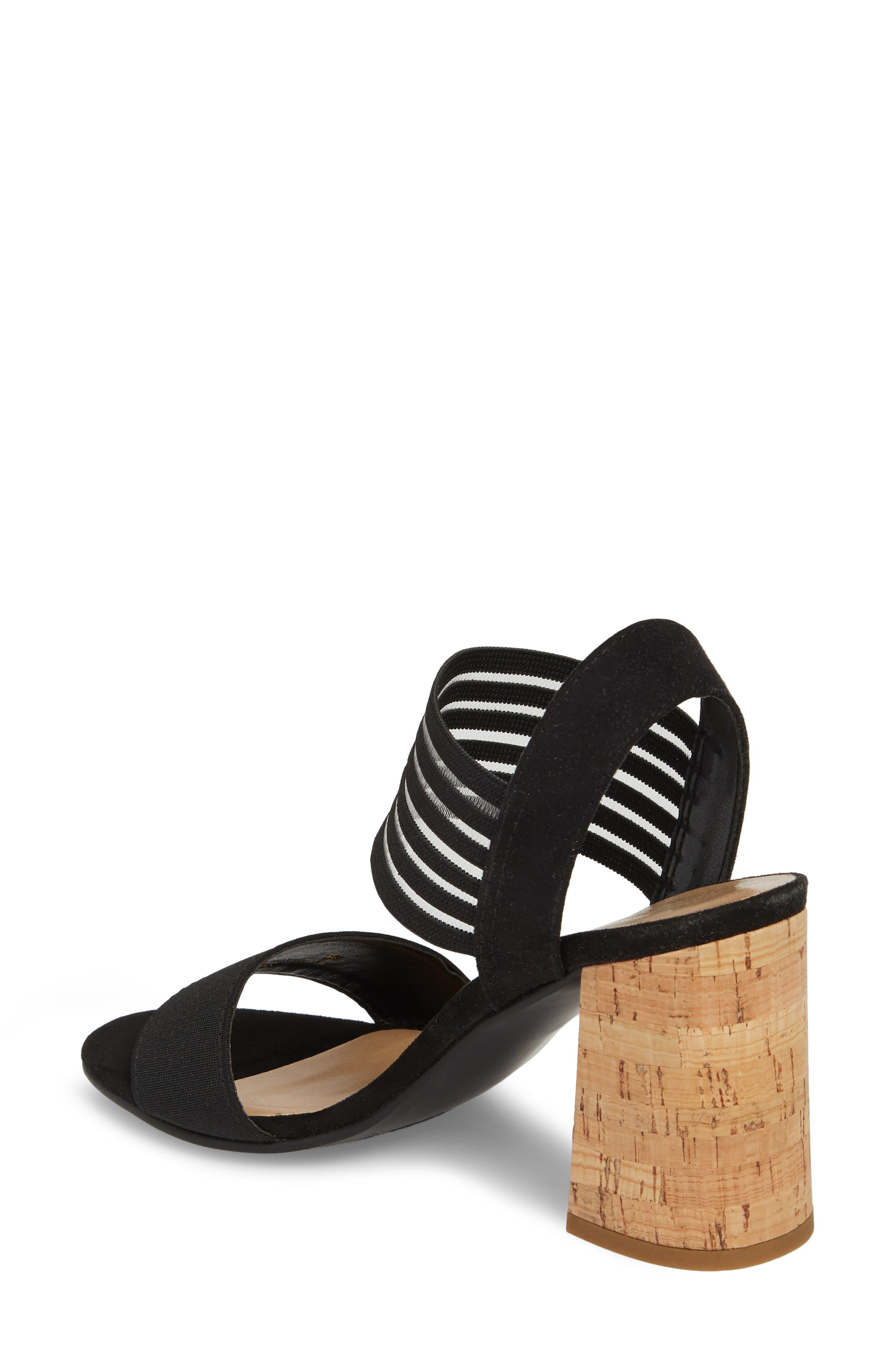 Dan Block Heel Sandal,                             Alternate thumbnail 2, color,                             BLACK LEATHER