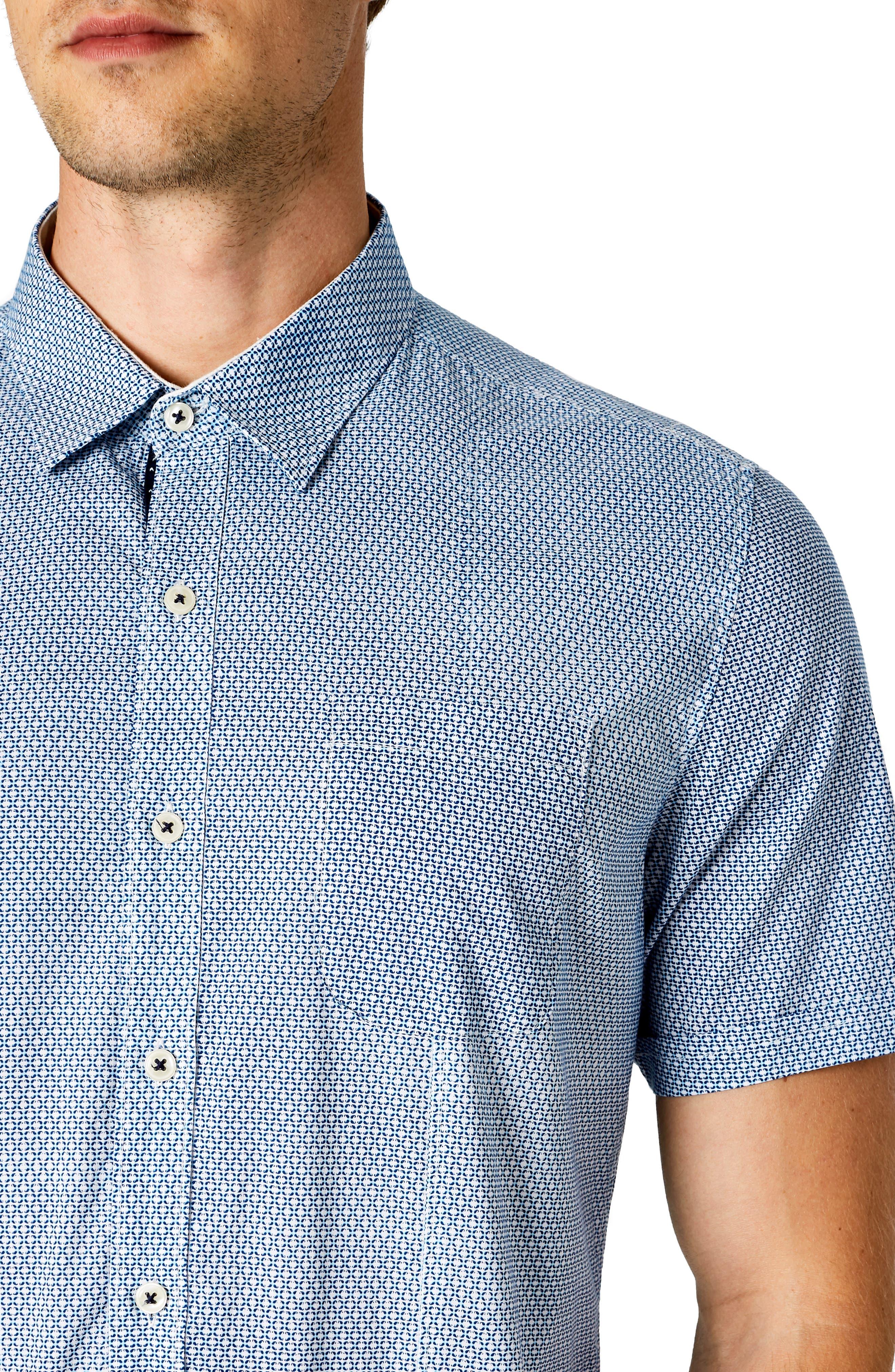 Free Rein Trim Fit Sport Shirt,                             Alternate thumbnail 2, color,                             BLUE