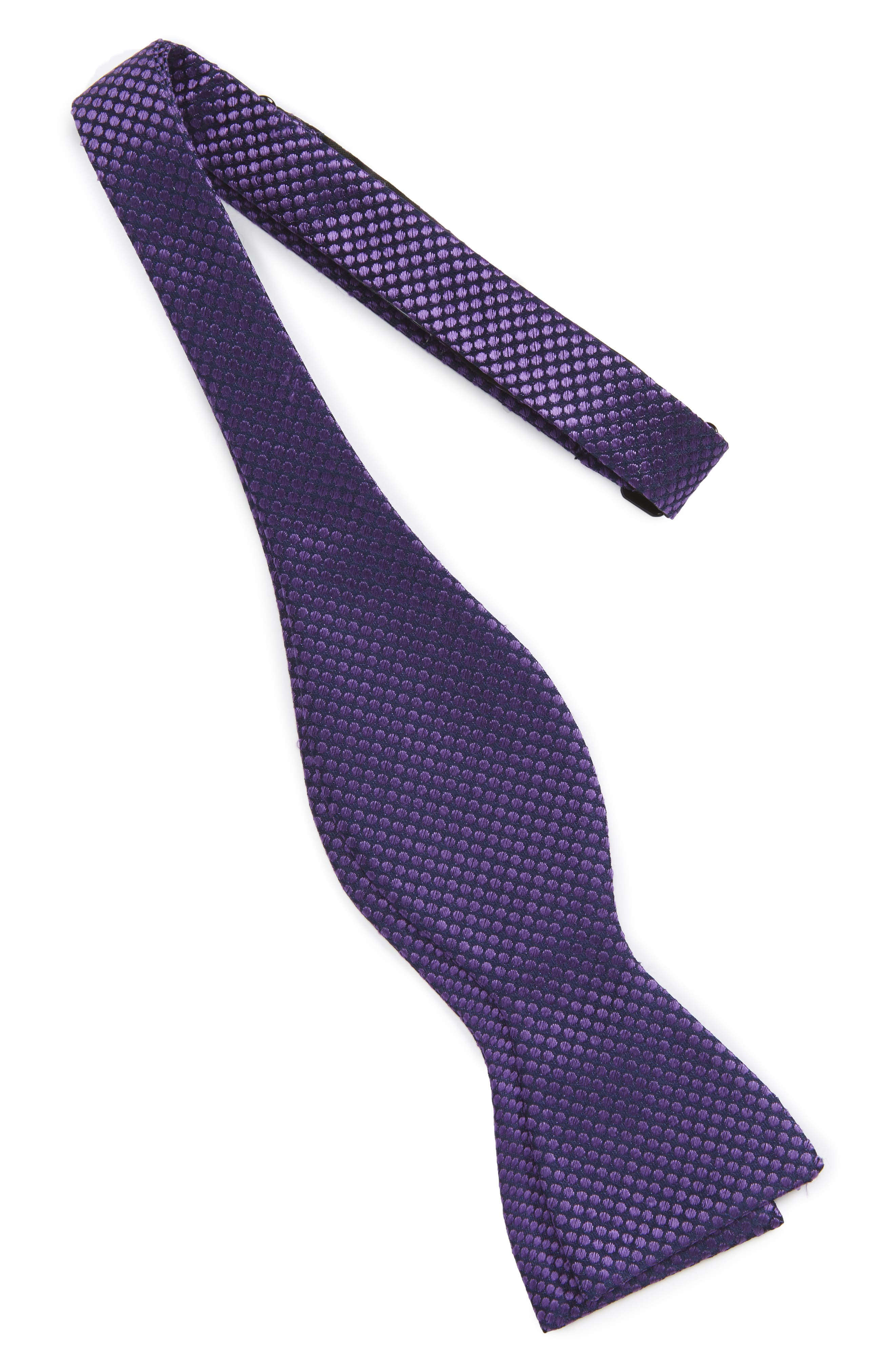 Saturated Dot Silk Bow Tie,                             Alternate thumbnail 6, color,