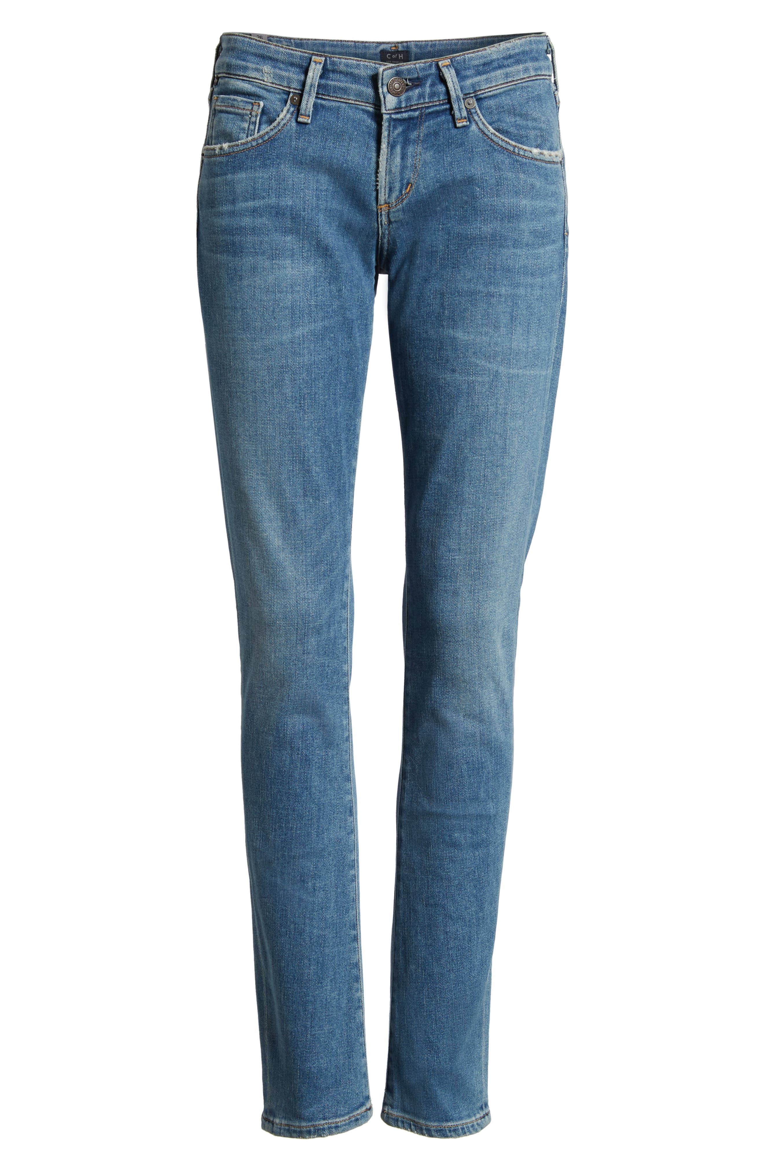 Racer Skinny Jeans,                             Alternate thumbnail 7, color,                             429