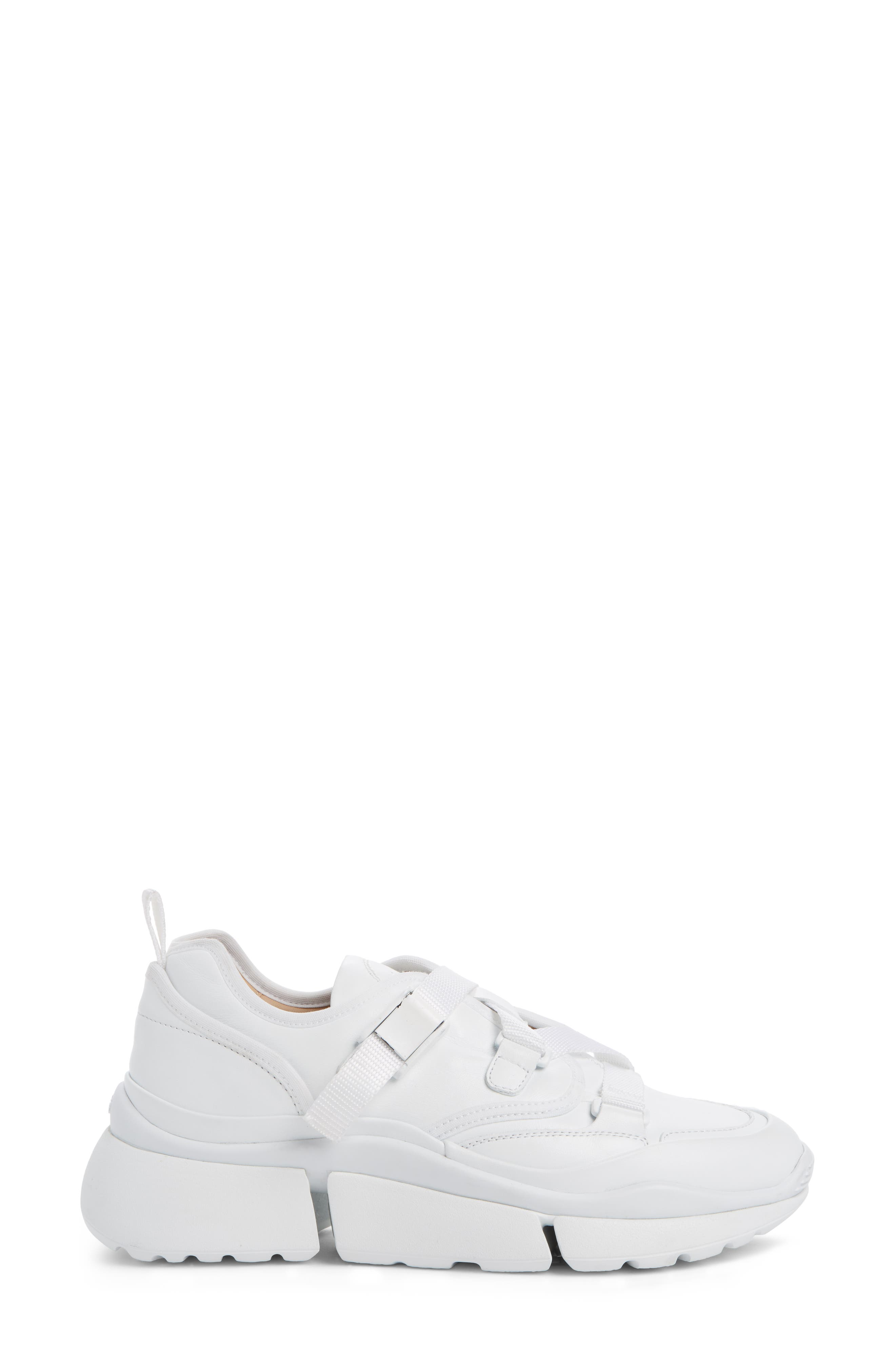 Sonnie Sneaker,                             Alternate thumbnail 3, color,                             WHITE LEATHER