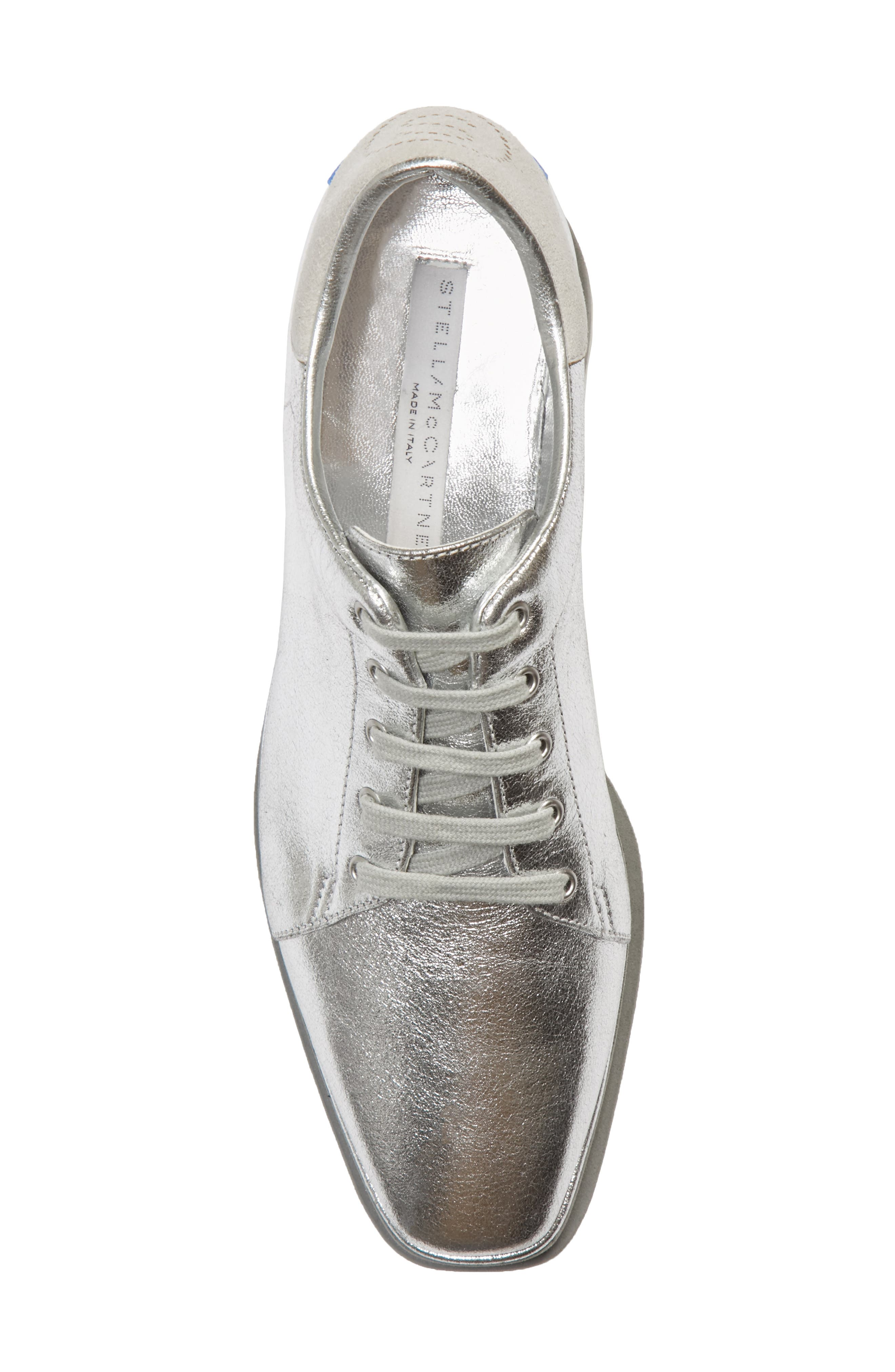 Elyse Platform Sneaker,                             Alternate thumbnail 5, color,                             SILVER