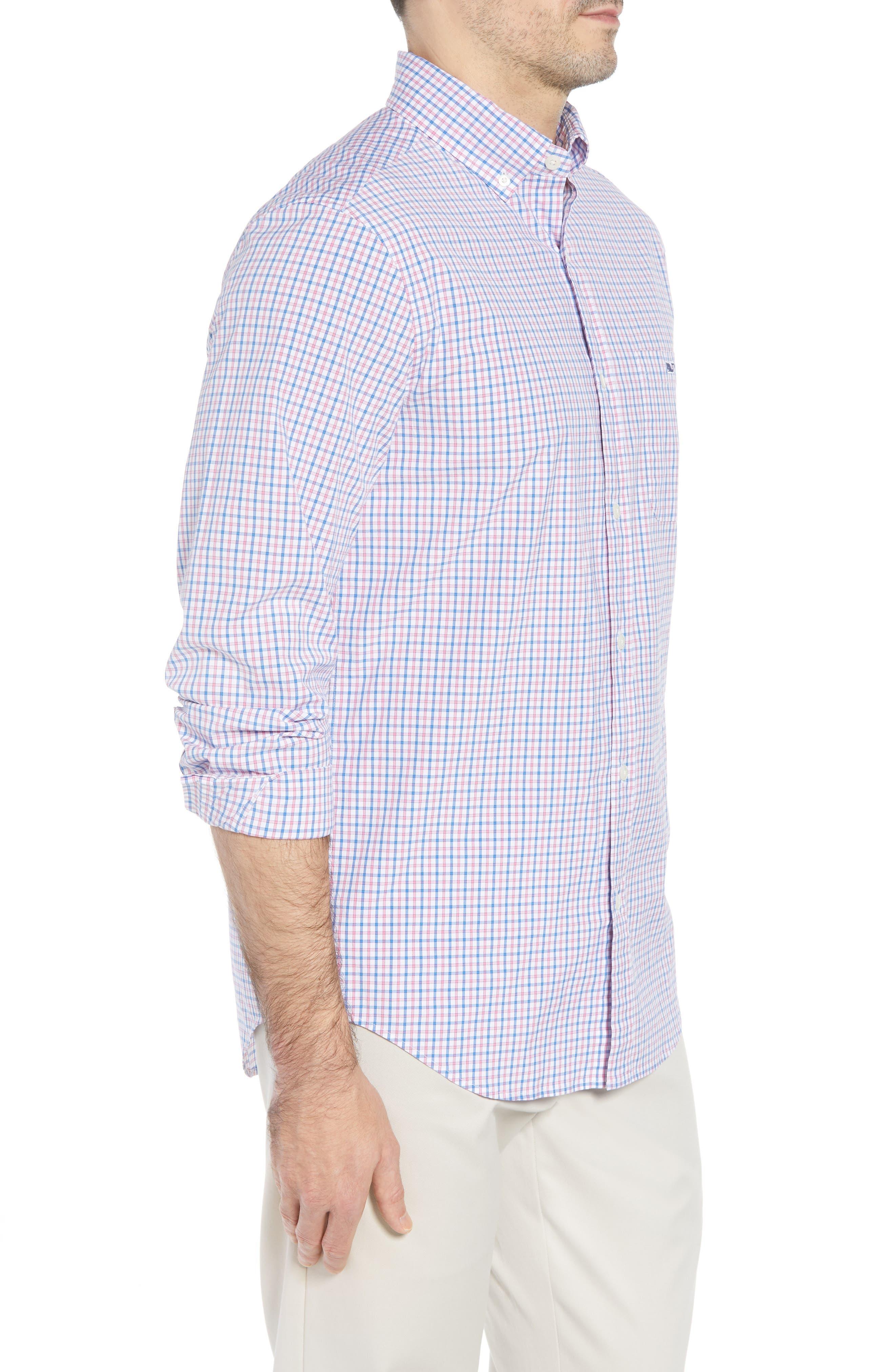 Clark Cove Tucker Classic Fit Check Sport Shirt,                             Alternate thumbnail 12, color,