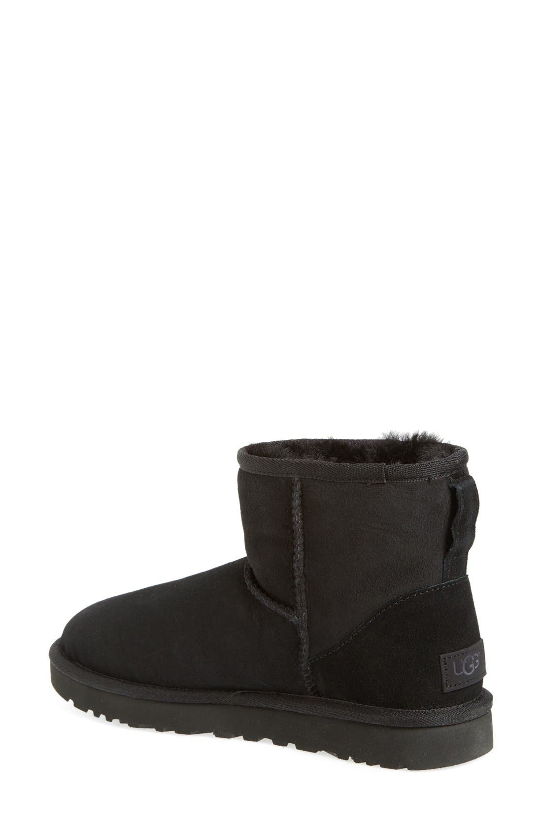 UGG<SUP>®</SUP>,                             Classic Mini II Genuine Shearling Lined Boot,                             Alternate thumbnail 3, color,                             BLACK SUEDE