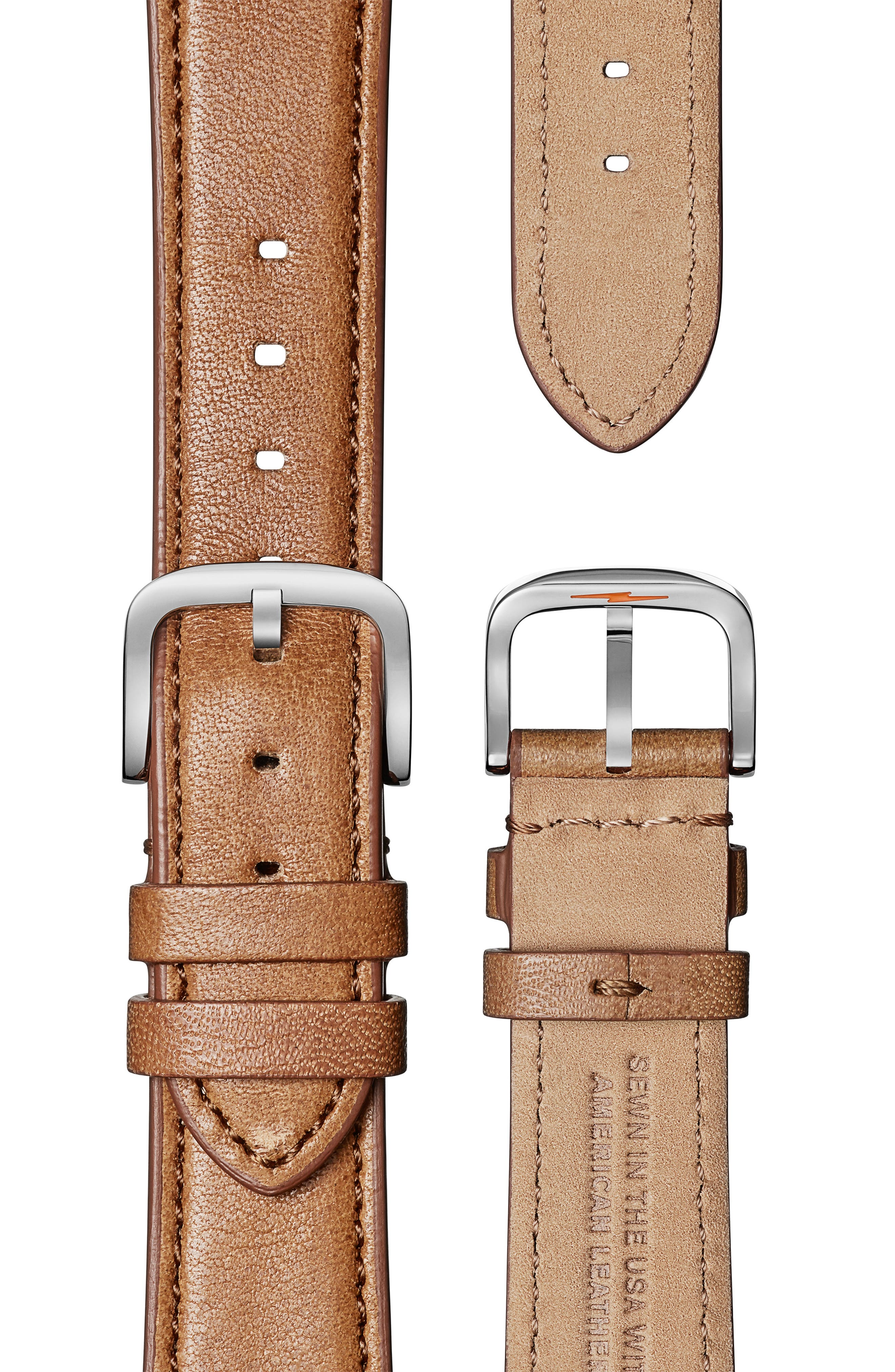 The Muldowney Rectangular Leather Strap Watch, 24mm x 32mm,                             Alternate thumbnail 17, color,