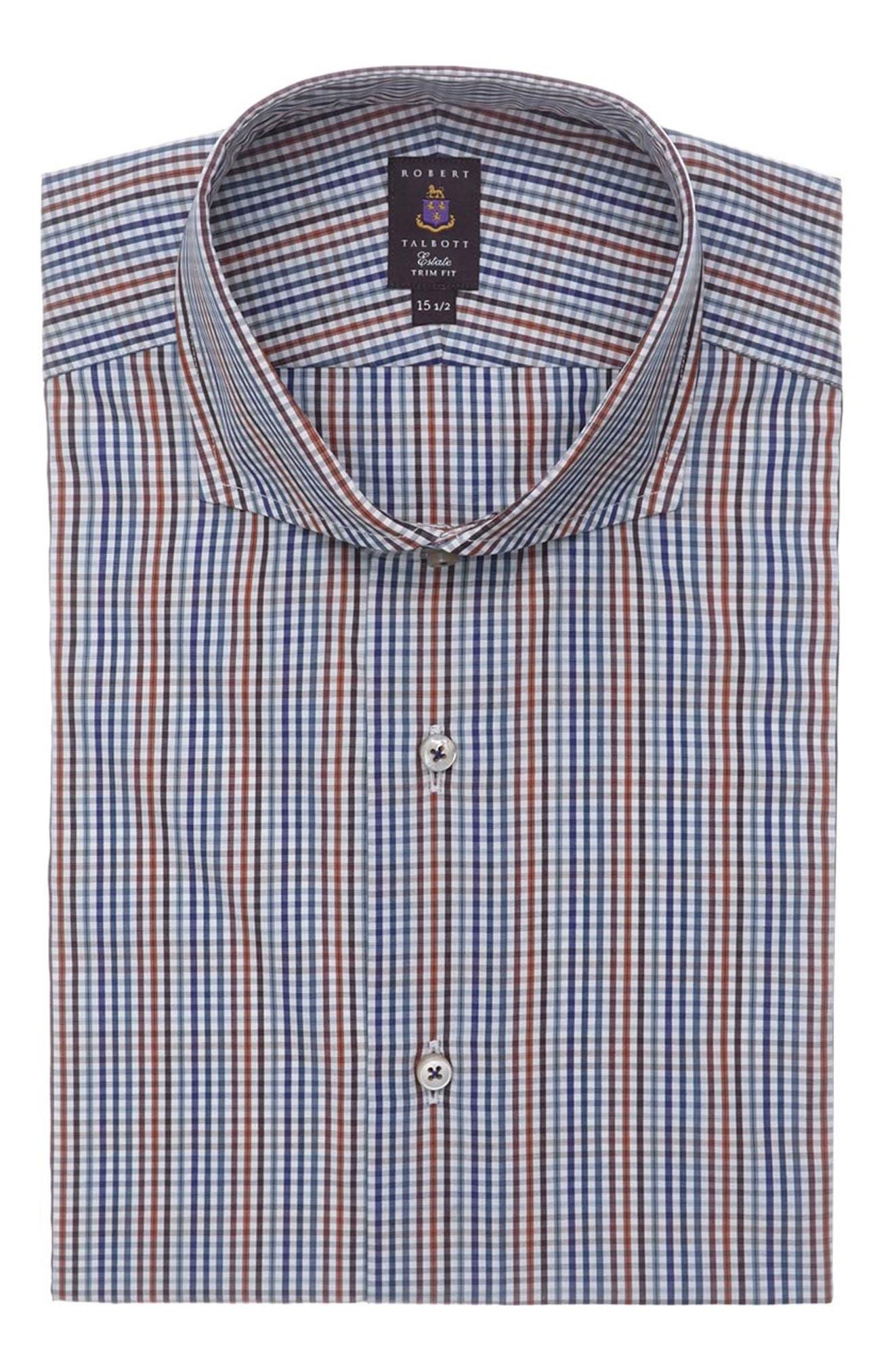 Tailored Fit Check Dress Shirt,                             Main thumbnail 1, color,                             405
