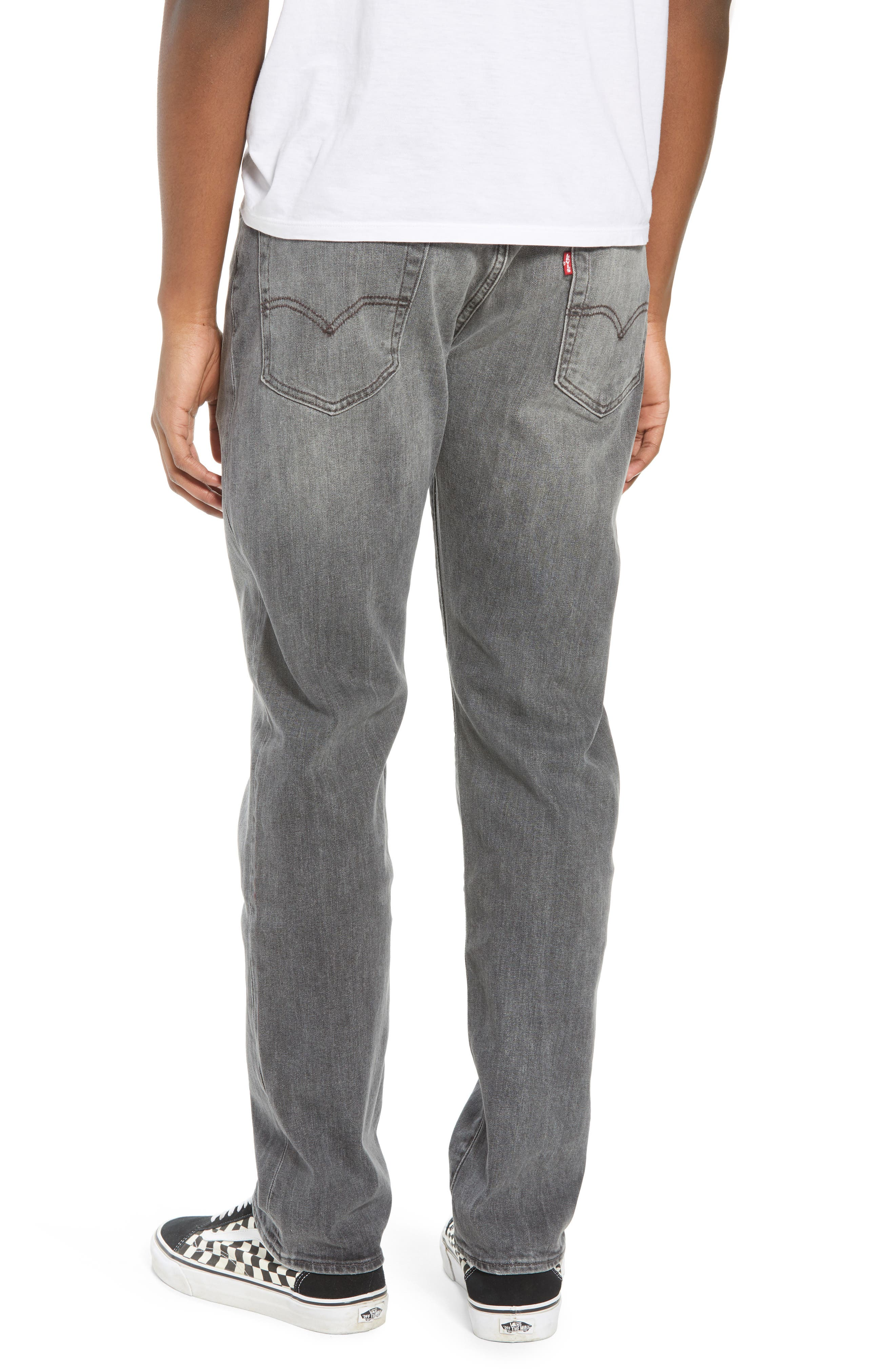 502<sup>™</sup> Slouchy Slim Fit Jeans,                             Alternate thumbnail 2, color,                             GREY WASH
