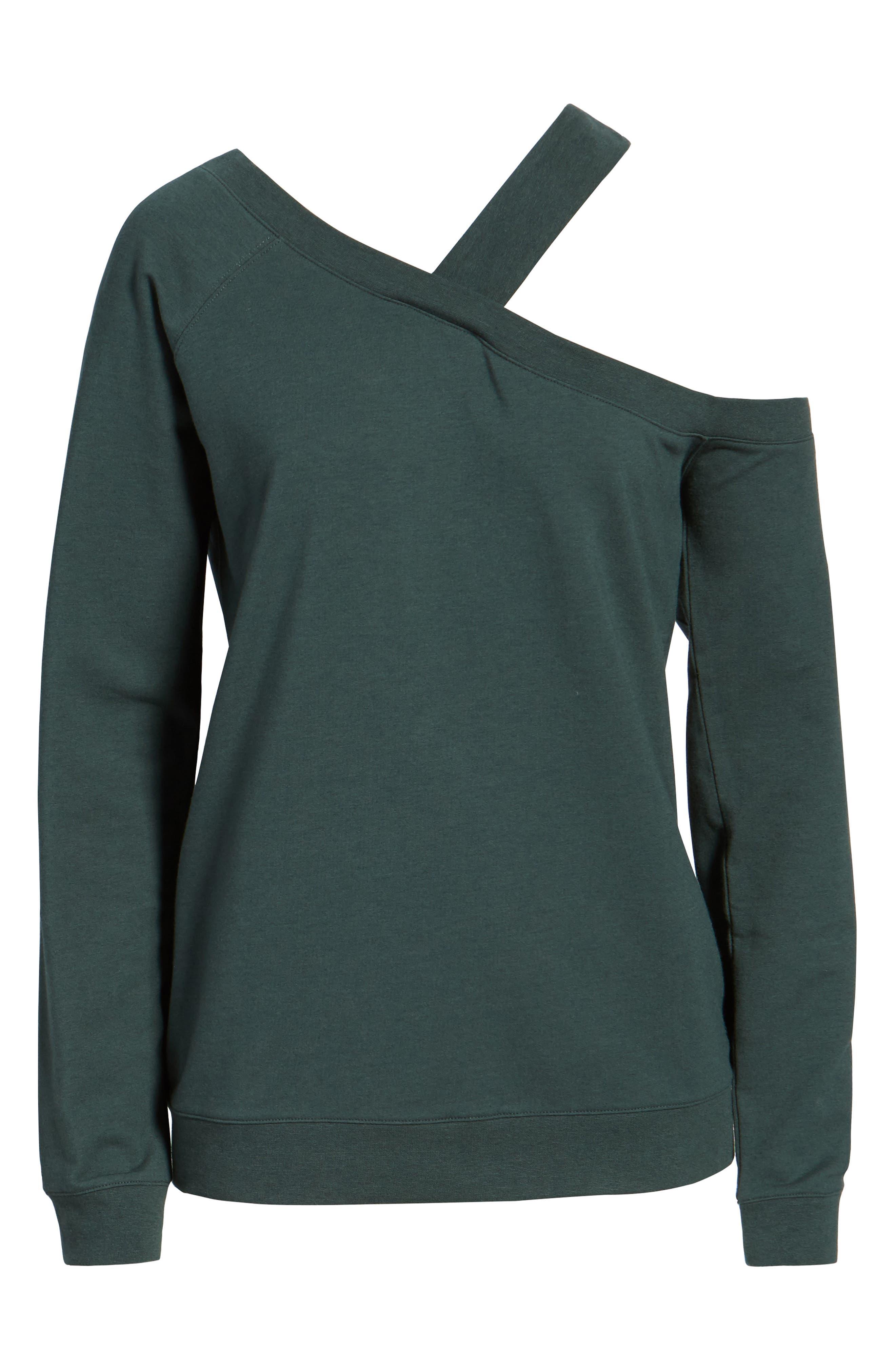 Asymmetrical Sweatshirt,                             Alternate thumbnail 6, color,                             300