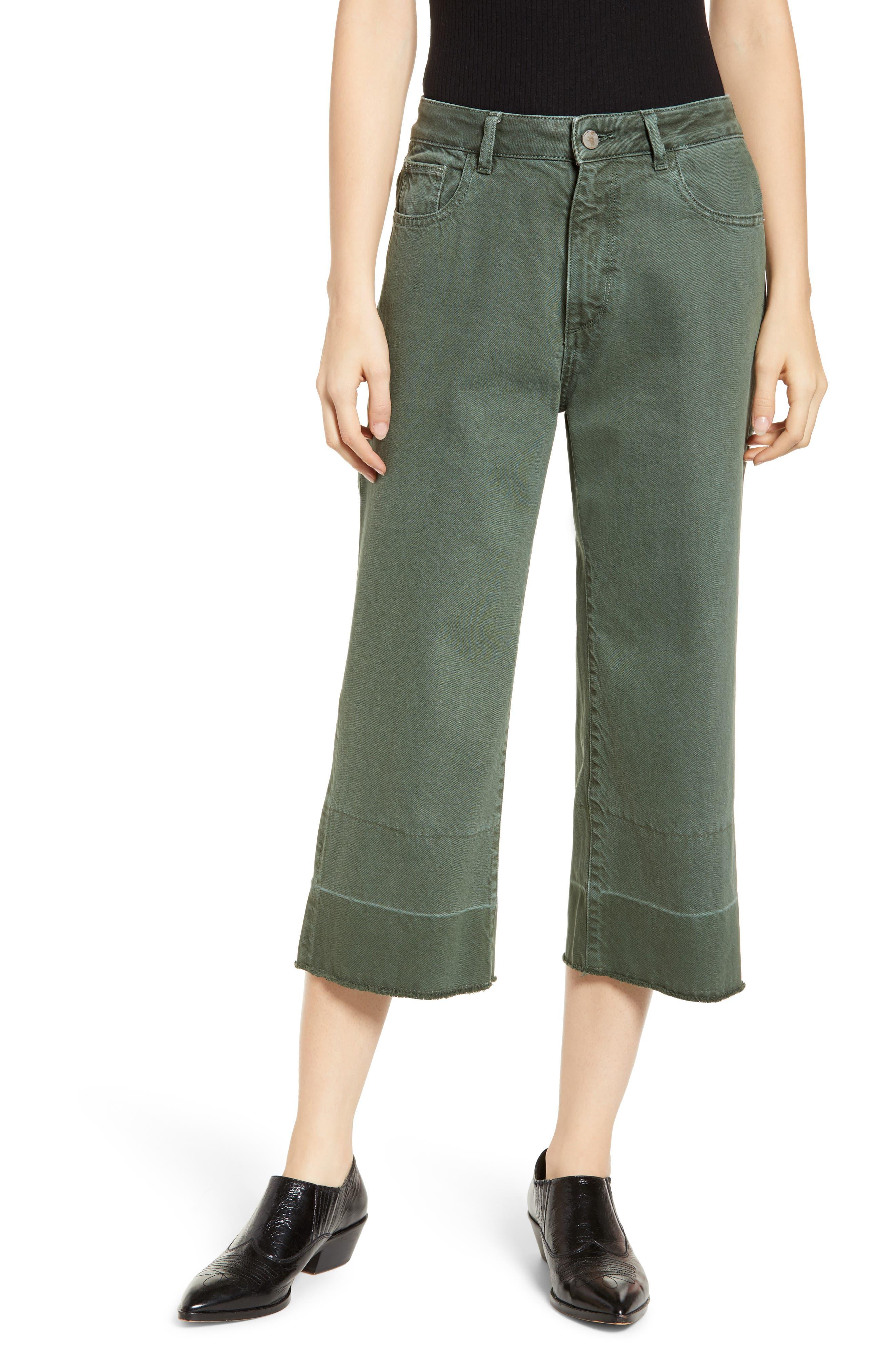DL1961,                             Hepburn High Waist Crop Wide Leg Jeans,                             Main thumbnail 1, color,                             AMALFI