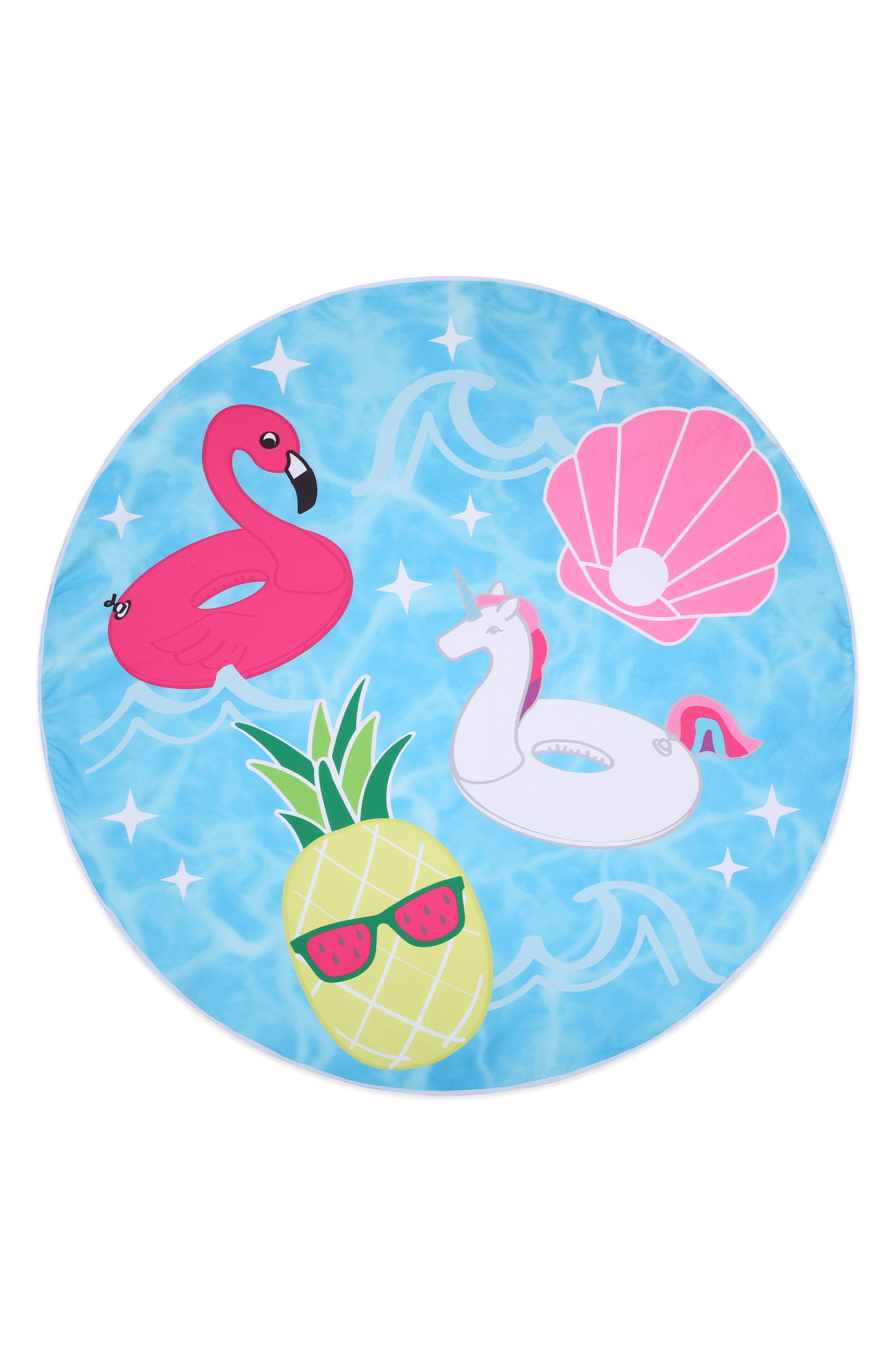 Cool Pool Round Towel,                             Alternate thumbnail 4, color,                             475