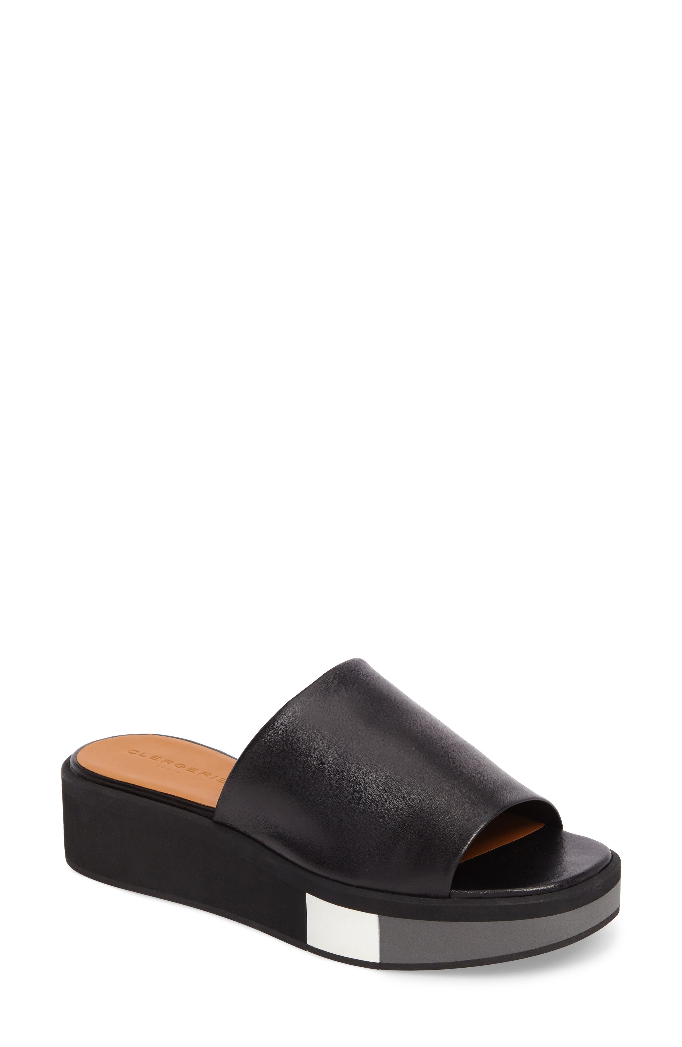 Quenor Platform Sandal,                             Main thumbnail 1, color,                             004