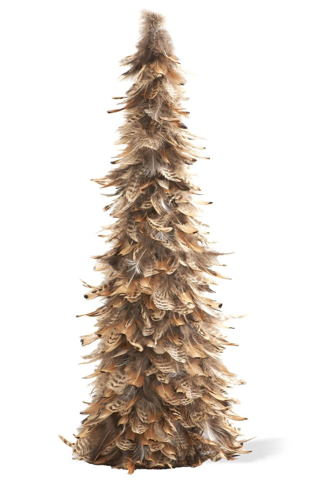 'Rust Feather' Topiary Tree Decoration,                             Main thumbnail 1, color,                             200