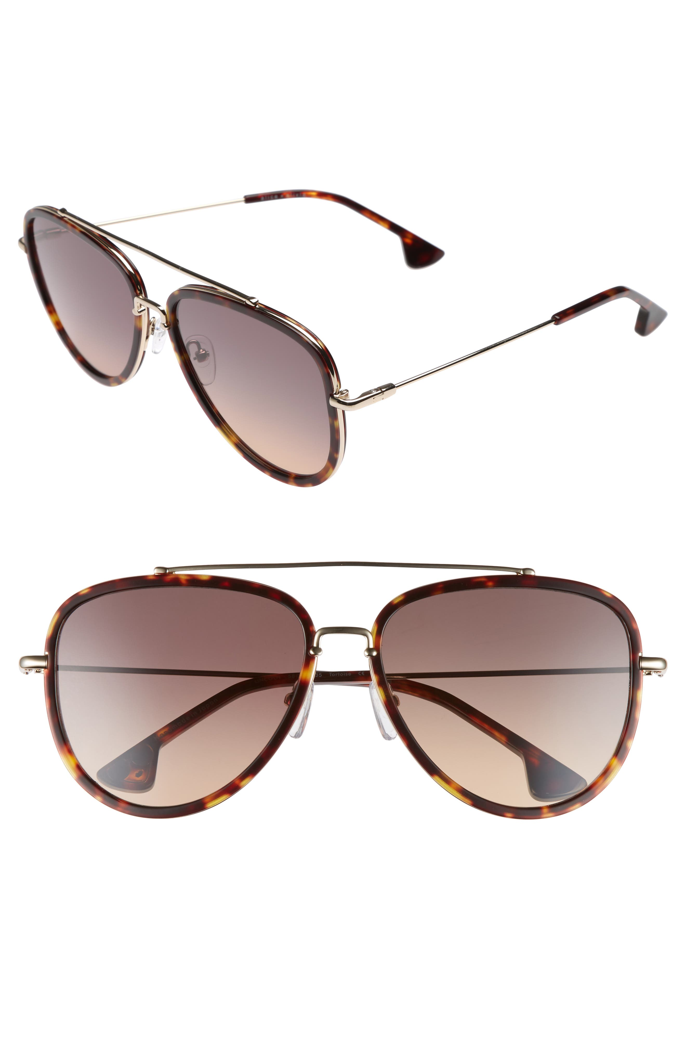 Lincoln 58mm Aviator Sunglasses,                             Main thumbnail 2, color,