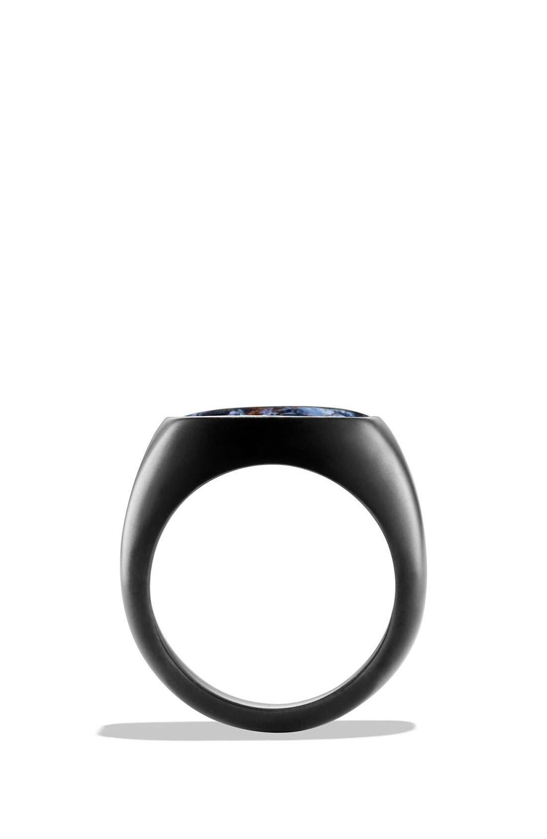 'Exotic Stone' Signet Ring,                             Alternate thumbnail 2, color,                             PIETERSITE