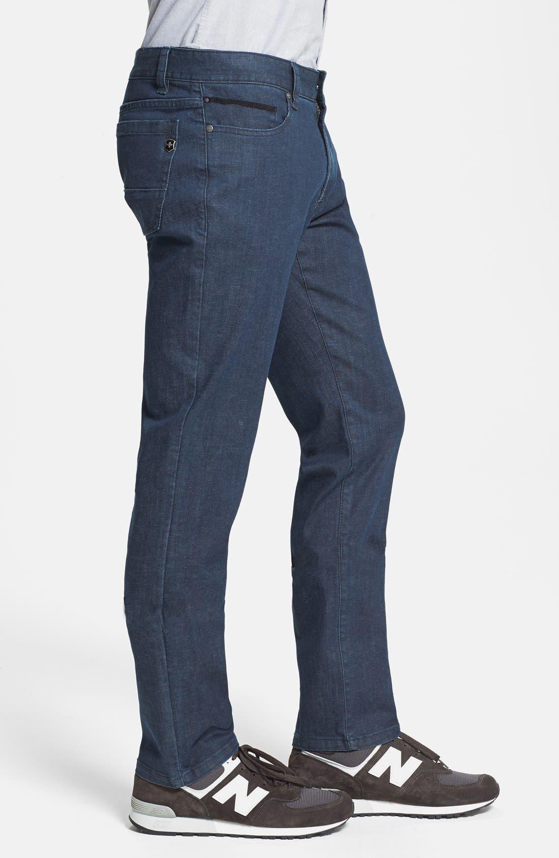 'Esher' Enzyme Wash Straight Leg Jeans,                             Alternate thumbnail 4, color,                             417