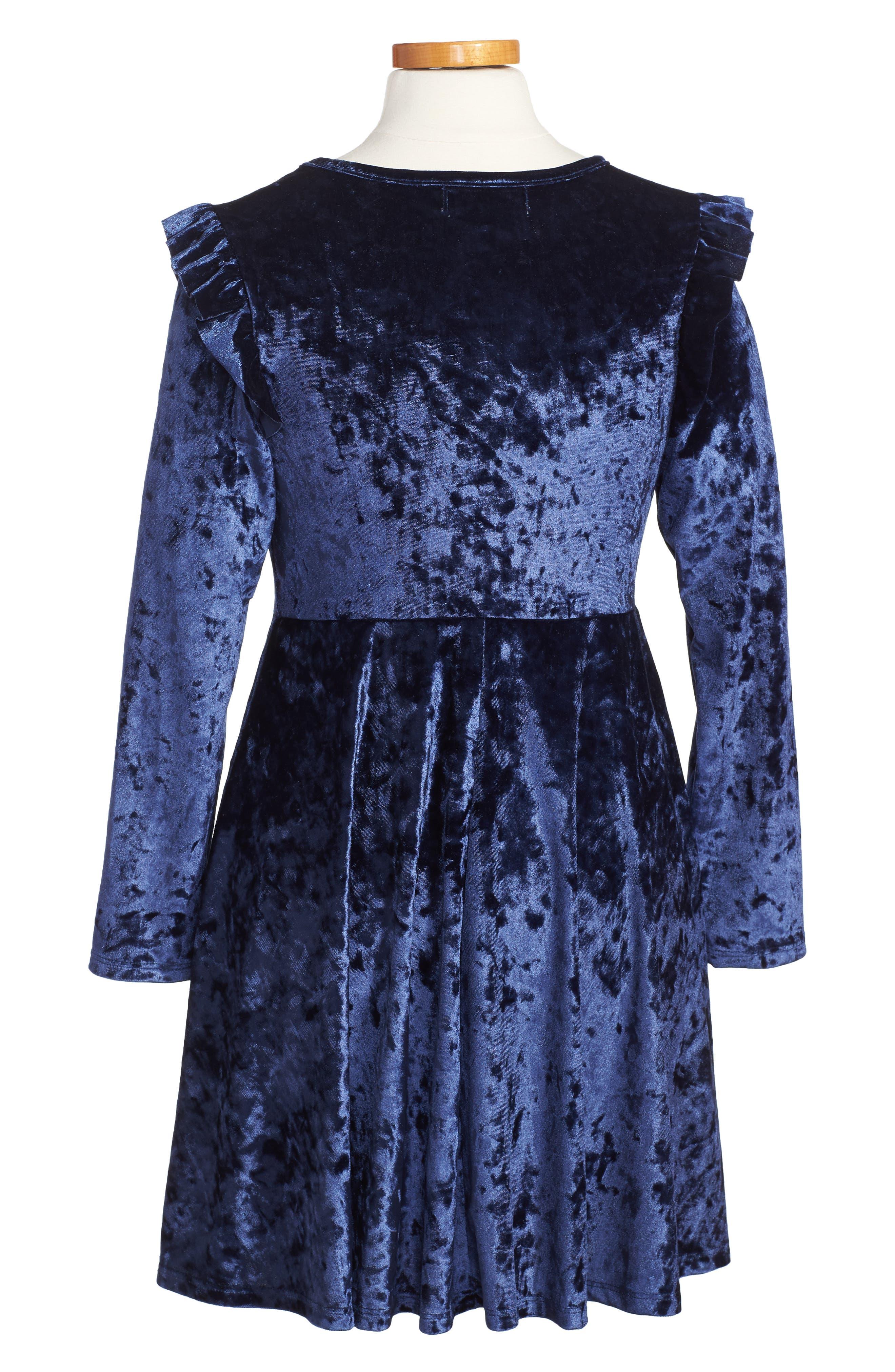 Velvet Dress,                             Alternate thumbnail 2, color,                             430