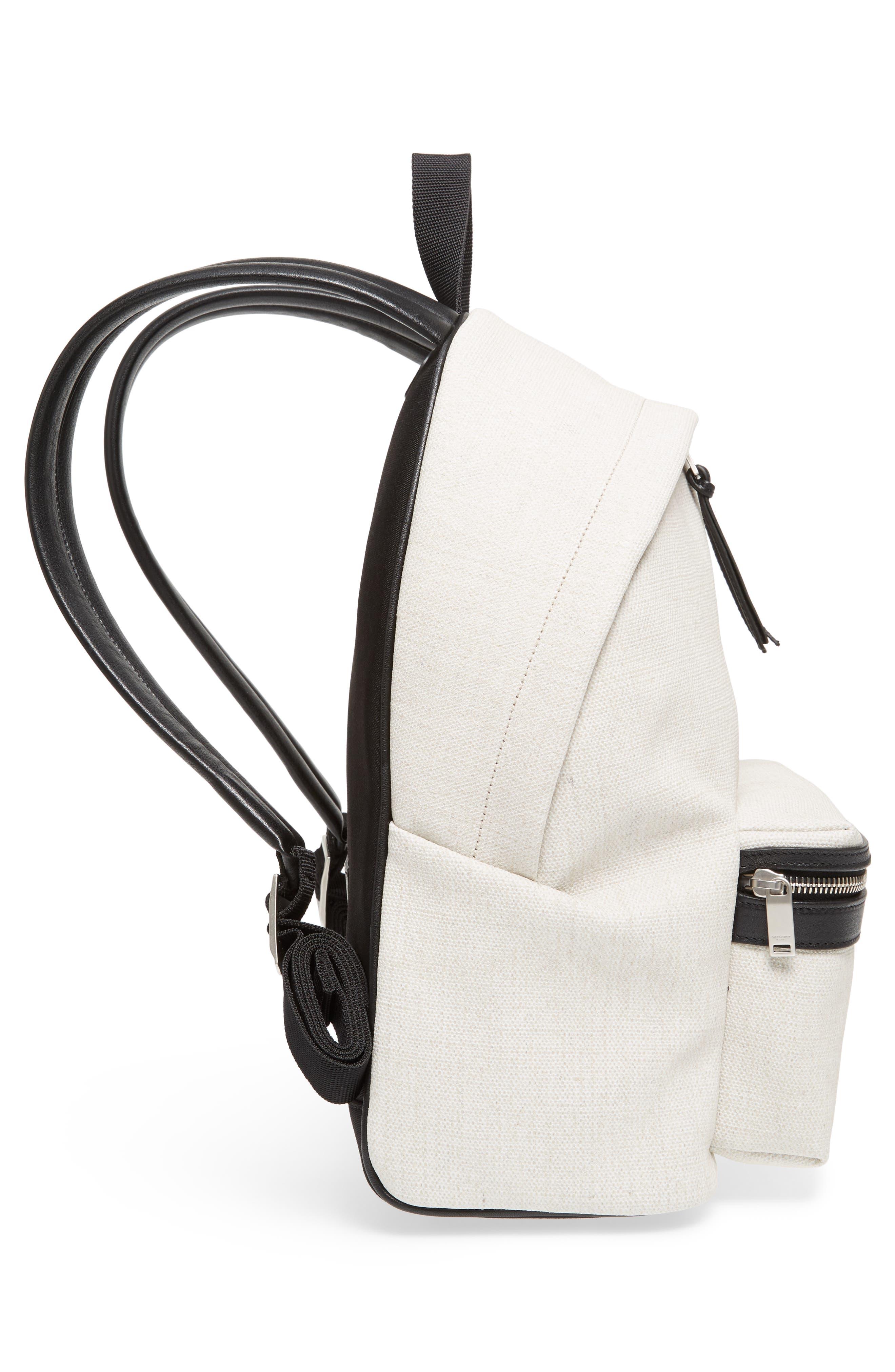 City Mini Rive Gauche Backpack,                             Alternate thumbnail 5, color,                             CANVAS