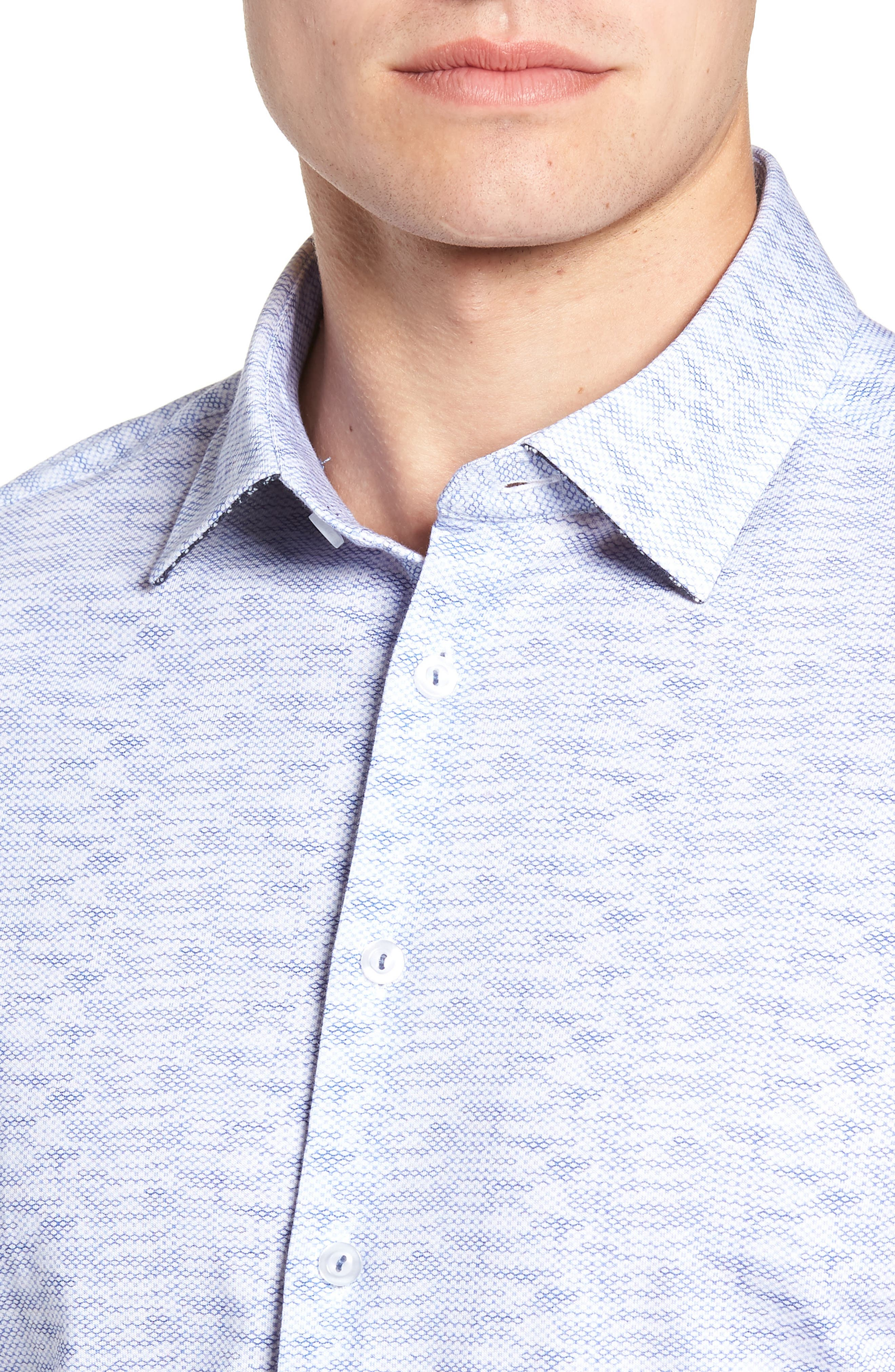 Heather Regular Fit Knit Sport Shirt,                             Alternate thumbnail 2, color,                             400