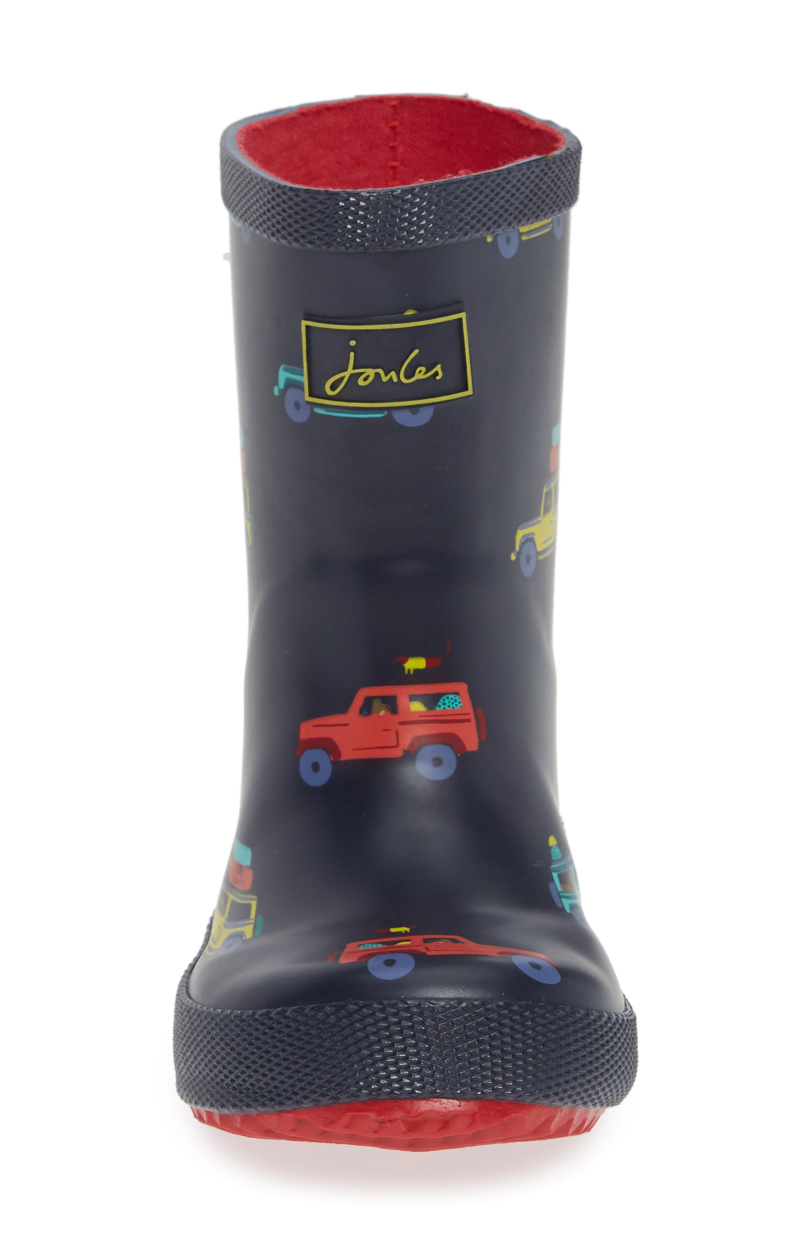 Print Welly Rain Boot,                             Alternate thumbnail 4, color,                             NAVY SCOUT AND ABOUT