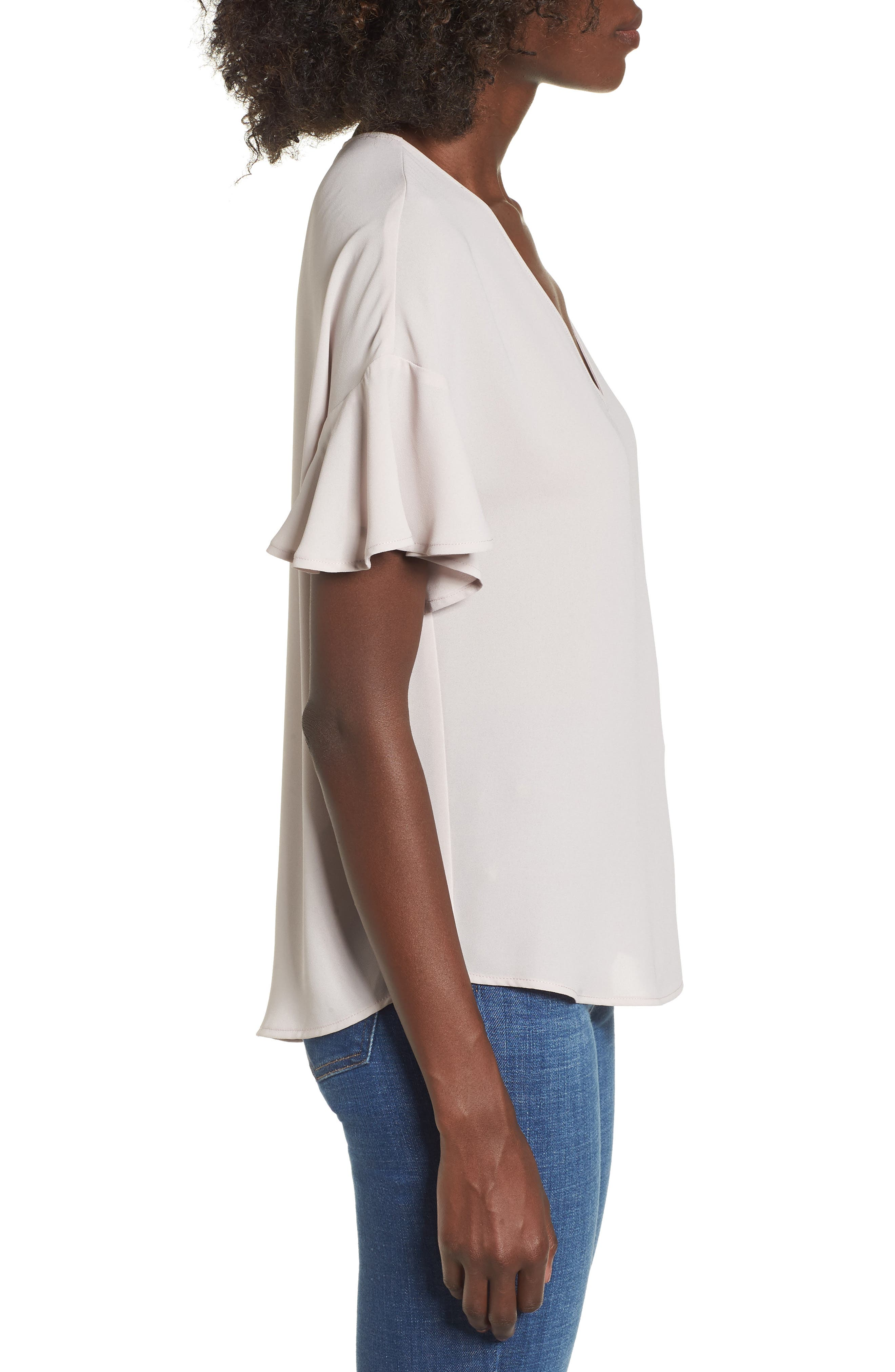 Crepe Tee,                             Alternate thumbnail 18, color,