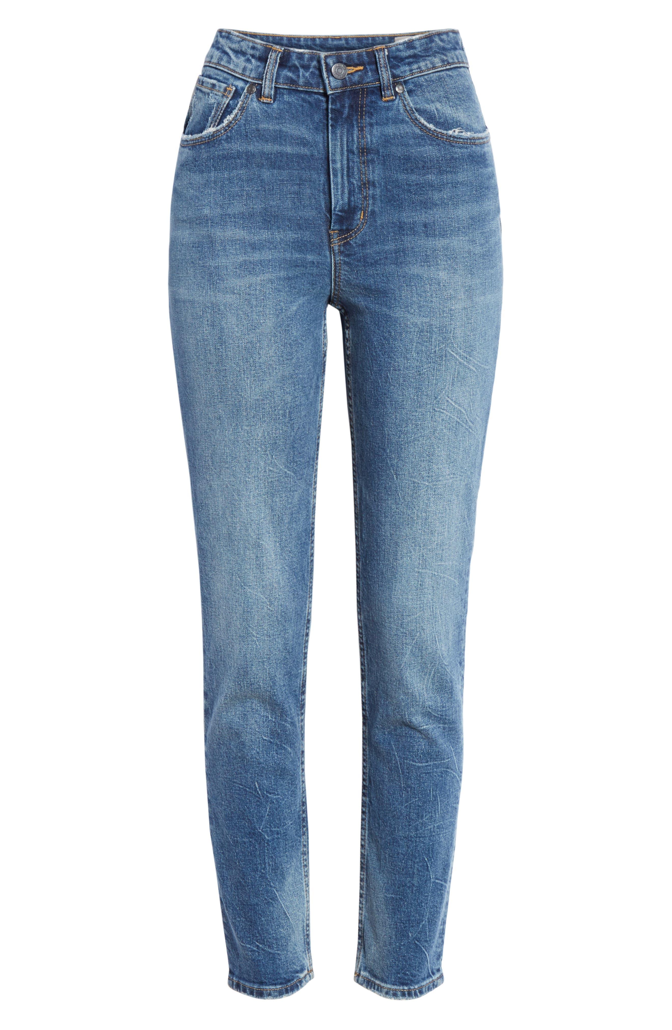 High Waist Straight Leg Jeans,                             Alternate thumbnail 6, color,                             GARWSH