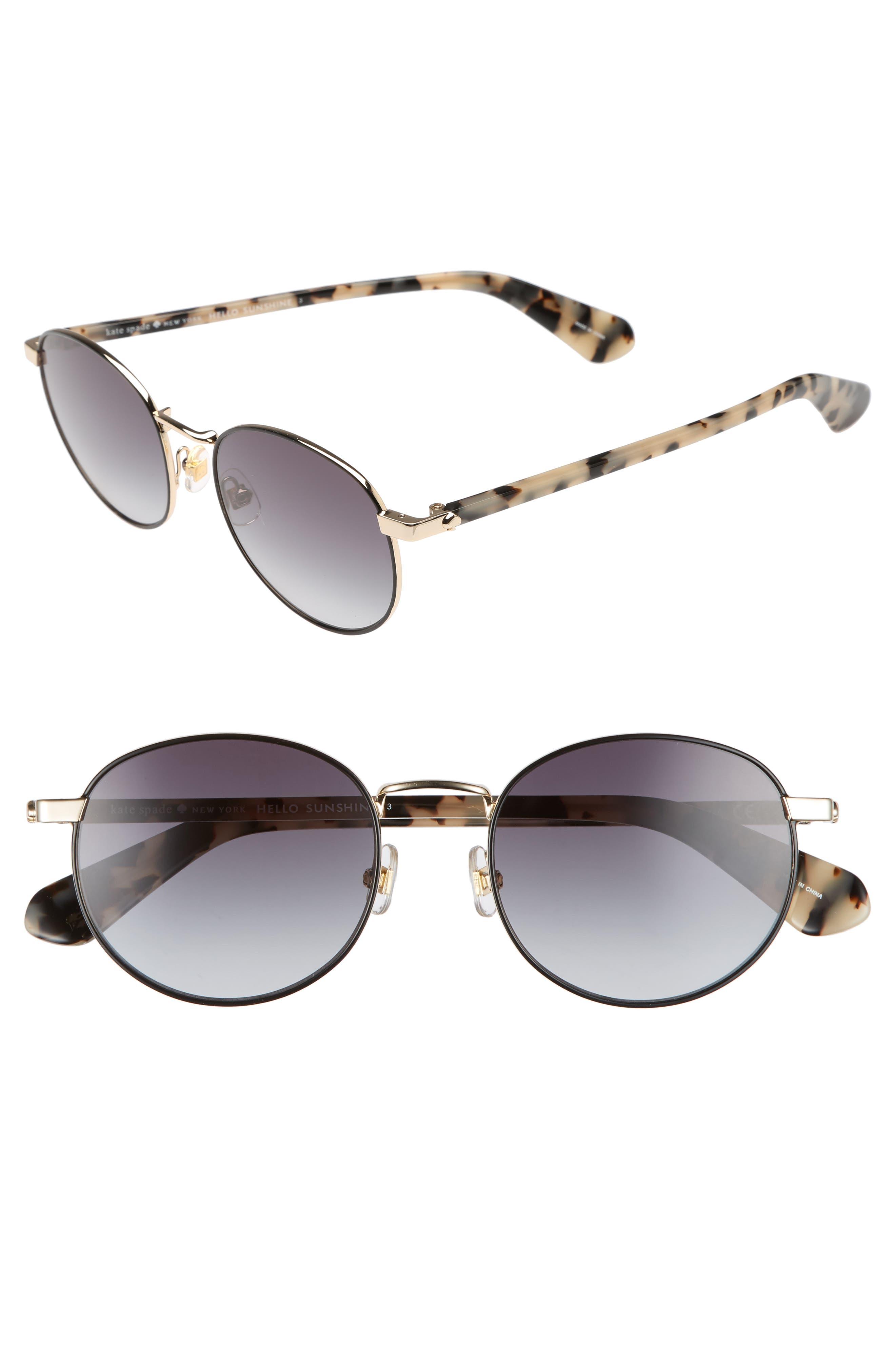 adelais 50mm round sunglasses,                             Main thumbnail 1, color,