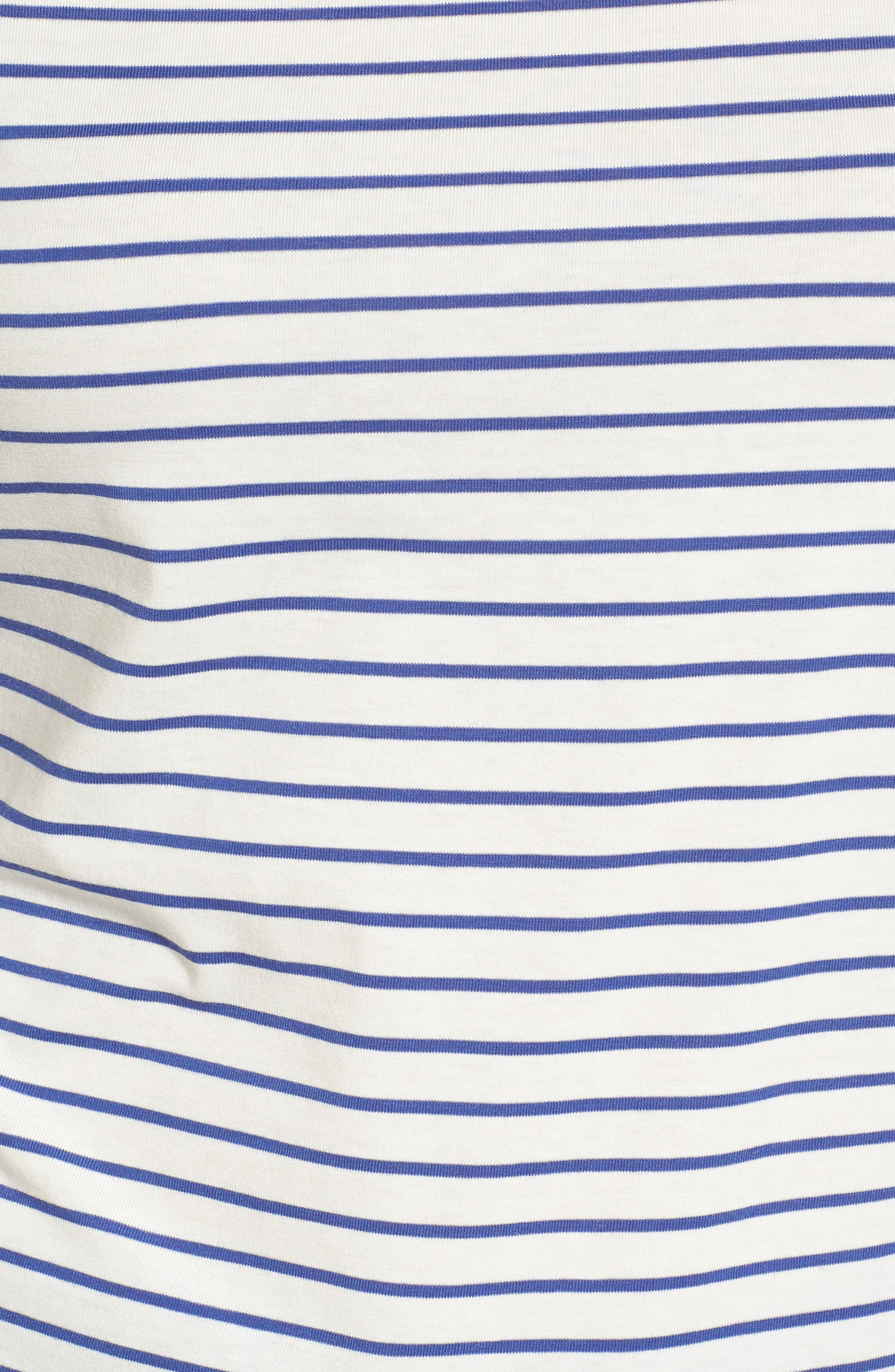 Stripe Knit Boatneck Top,                             Alternate thumbnail 5, color,                             100