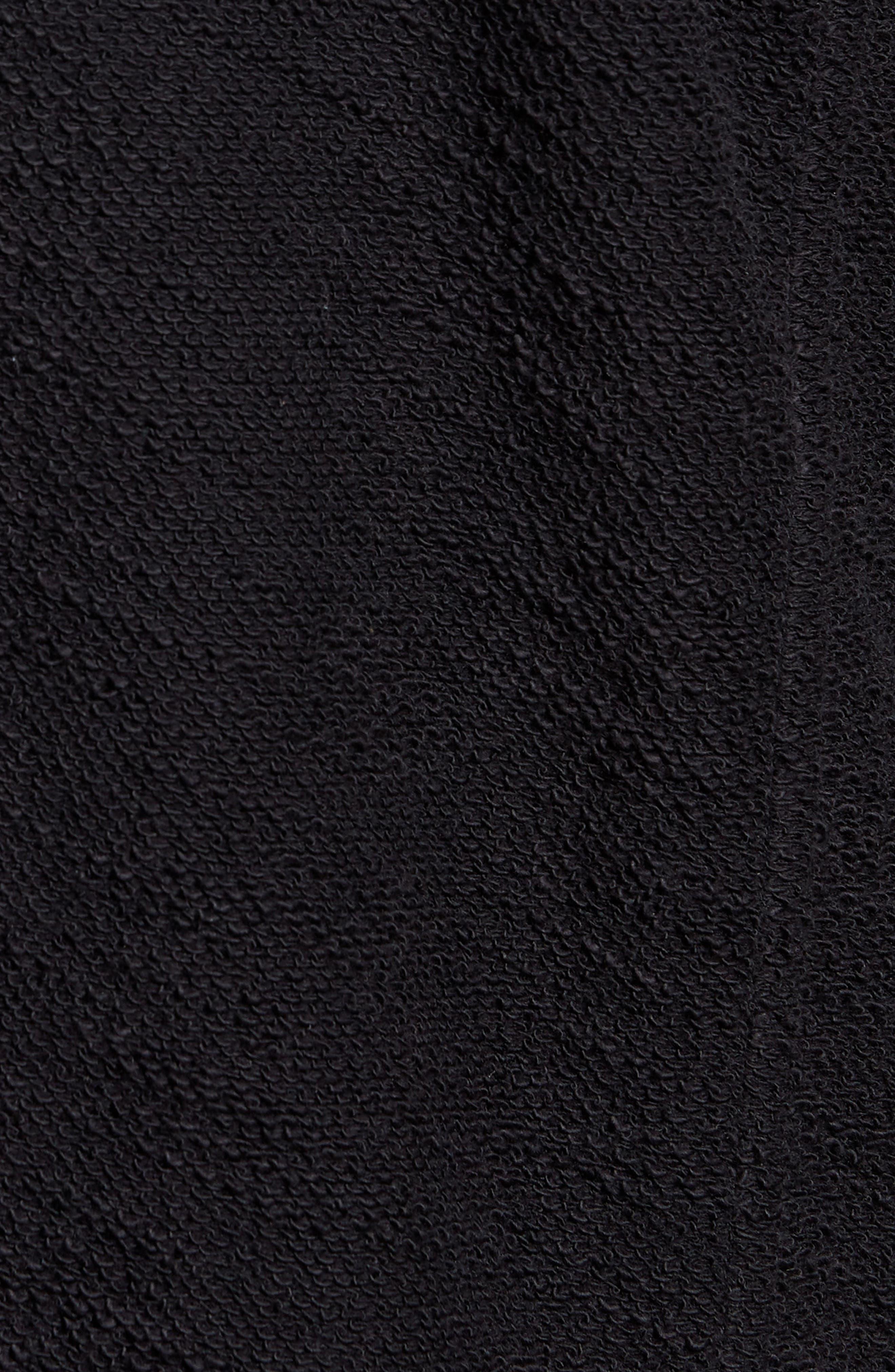 Terry Cloth Cotton Blend Blazer,                             Alternate thumbnail 6, color,                             001