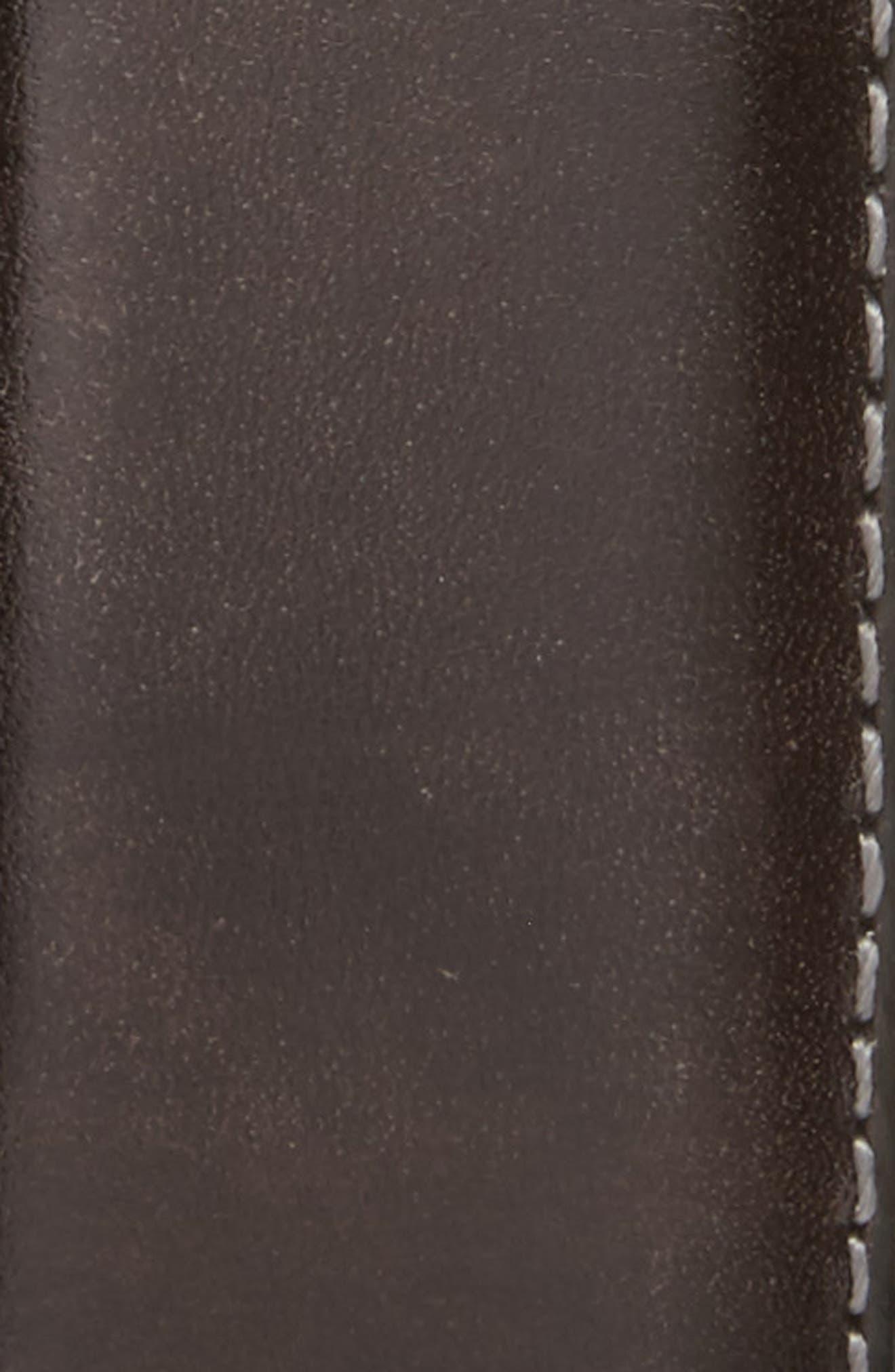 Tanning Leather Belt,                             Alternate thumbnail 2, color,                             GREY