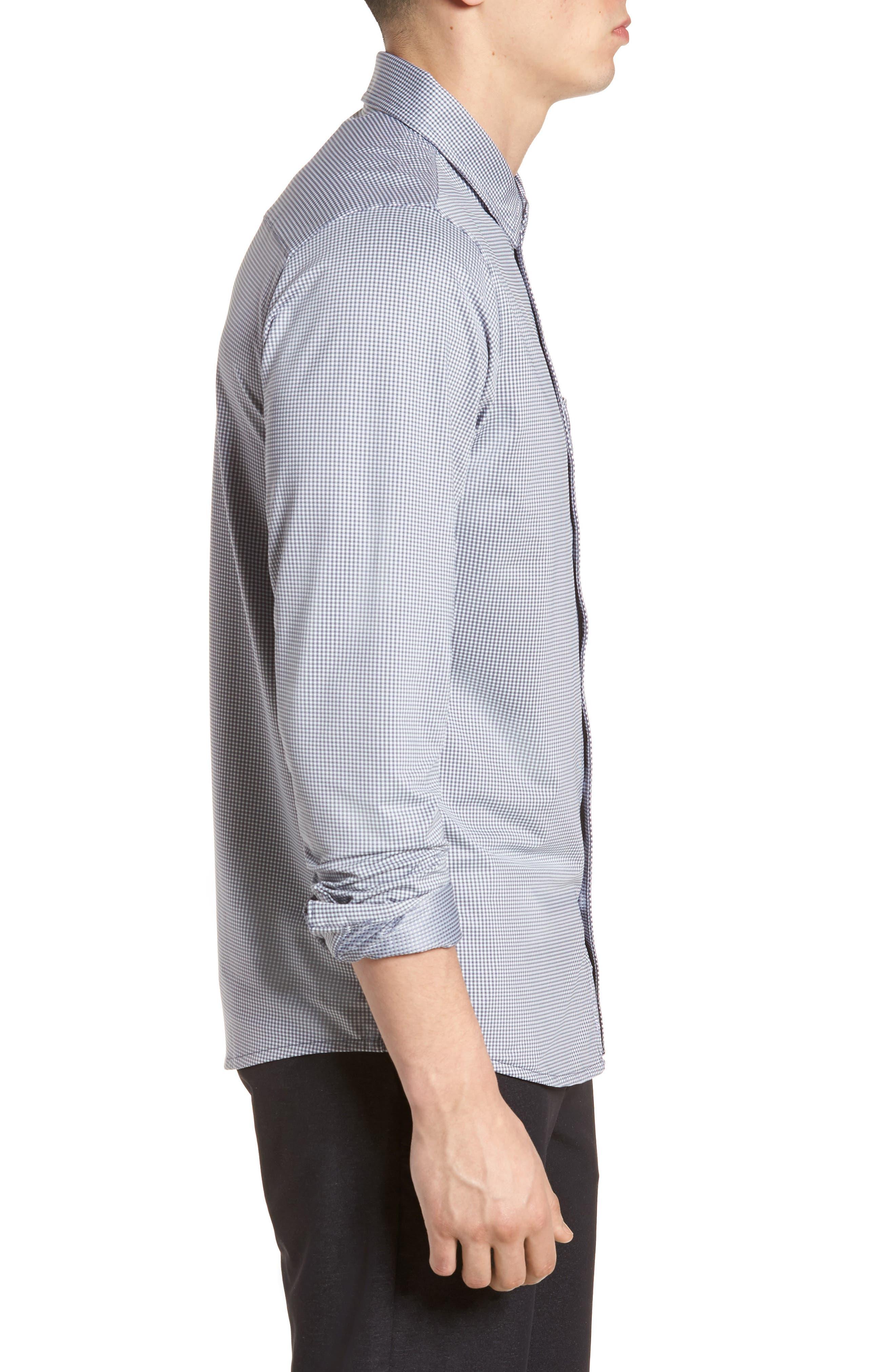 TRAVIS MATHEW,                             Couig Gingham Sport Shirt,                             Alternate thumbnail 3, color,                             105