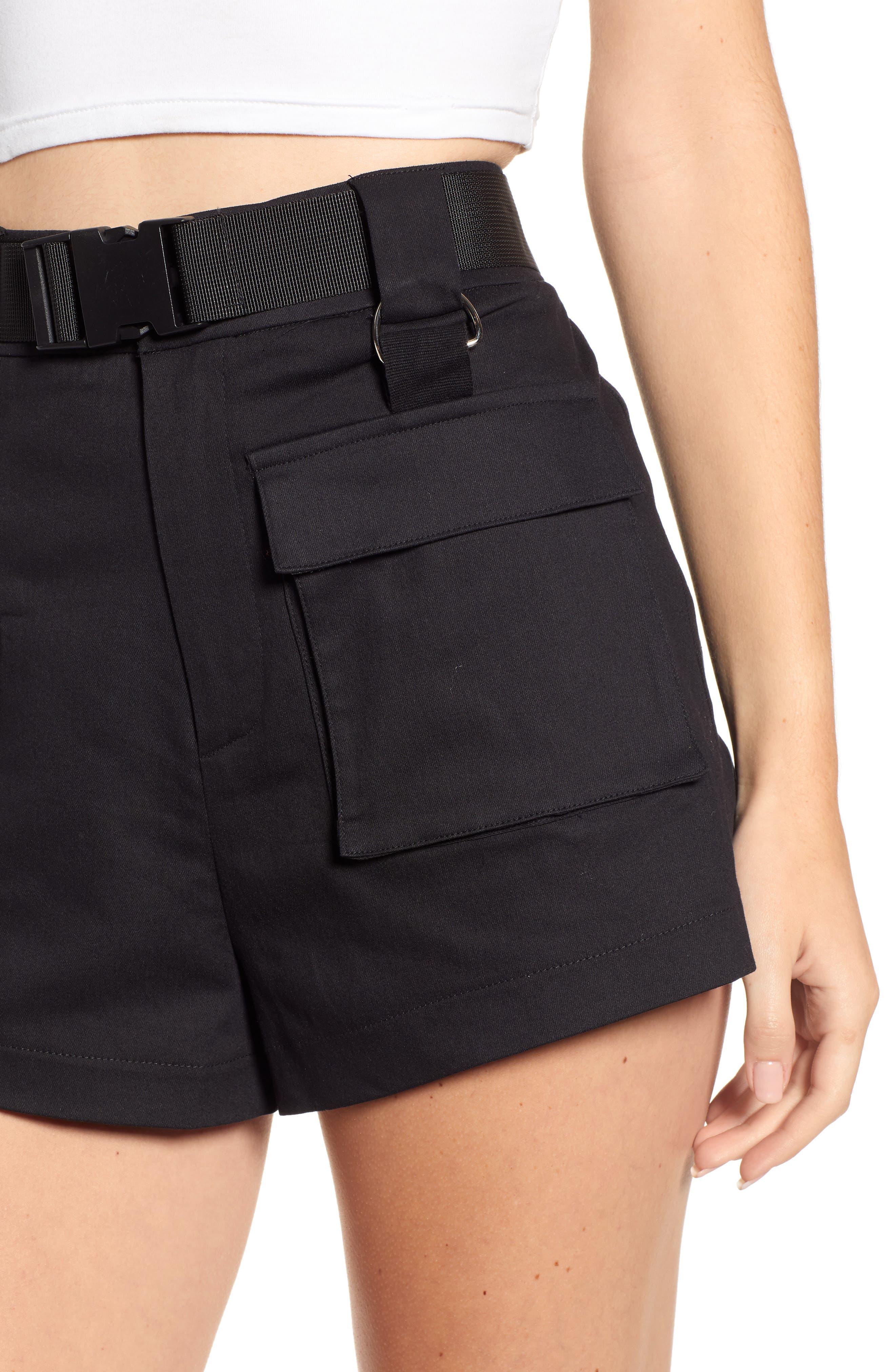 Harper Shorts,                             Alternate thumbnail 4, color,                             BLACK