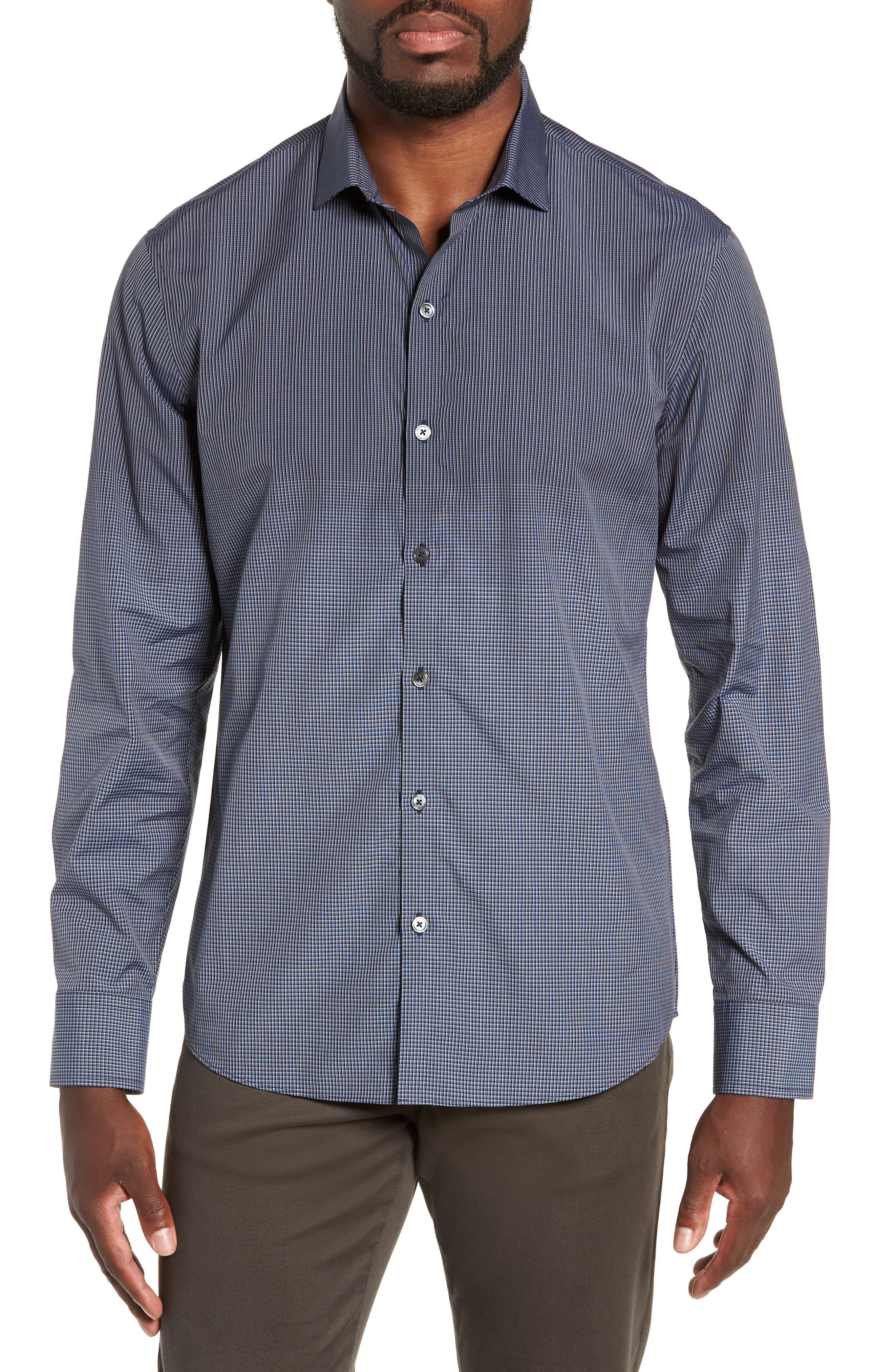 Hong Regular Fit Sport Shirt,                         Main,                         color, NAVY