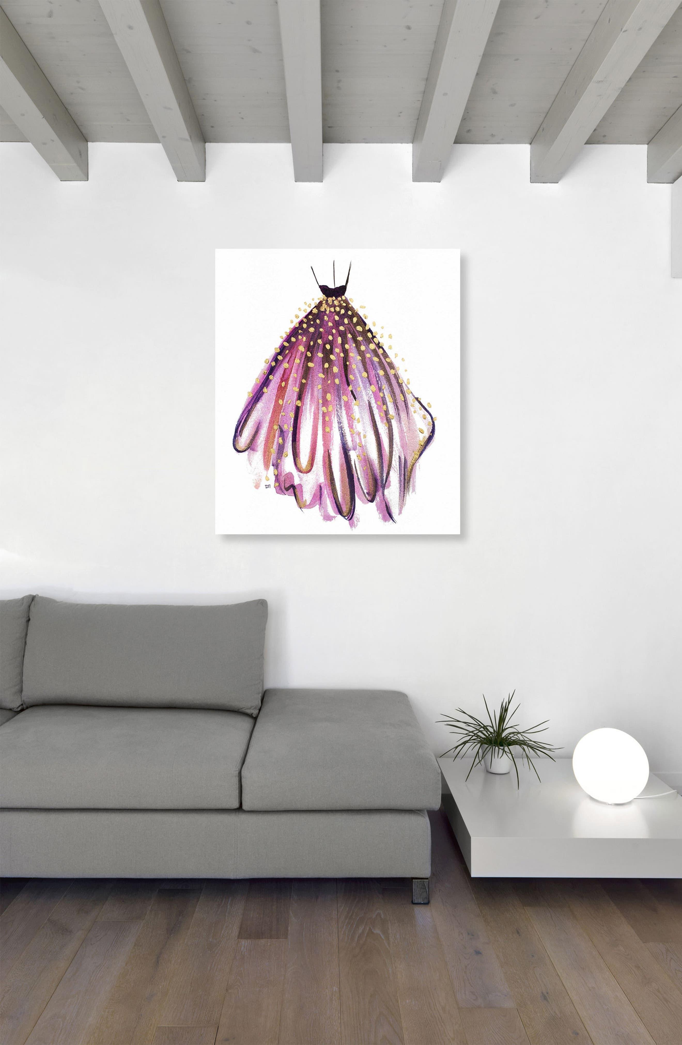 Purple Magic Canvas Wall Art,                             Alternate thumbnail 2, color,                             100