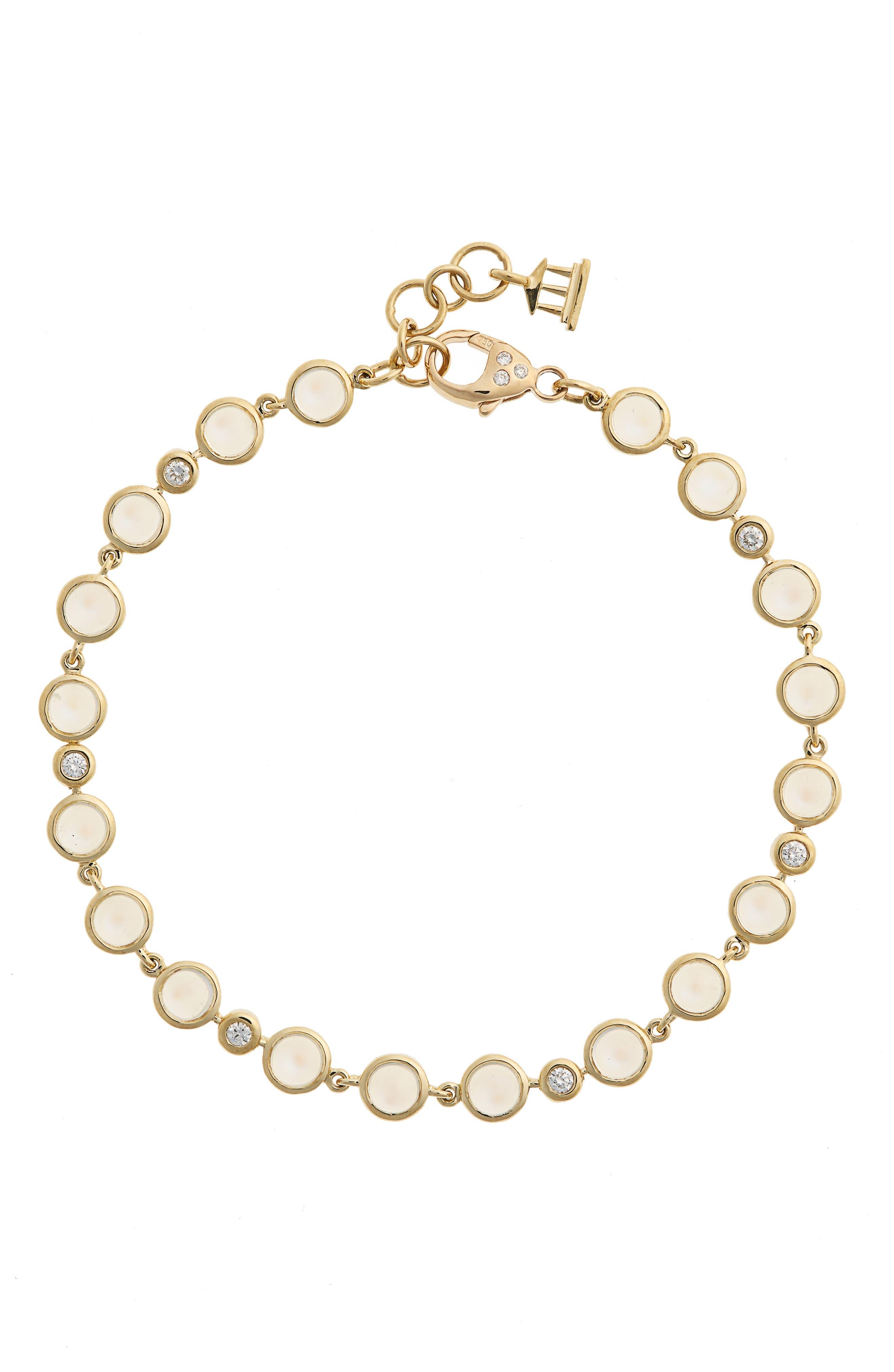 Temple St. Clair Diamond & Moonstone Bracelet,                             Main thumbnail 1, color,                             YELLOW GOLD/ BLUE MOONSTONE