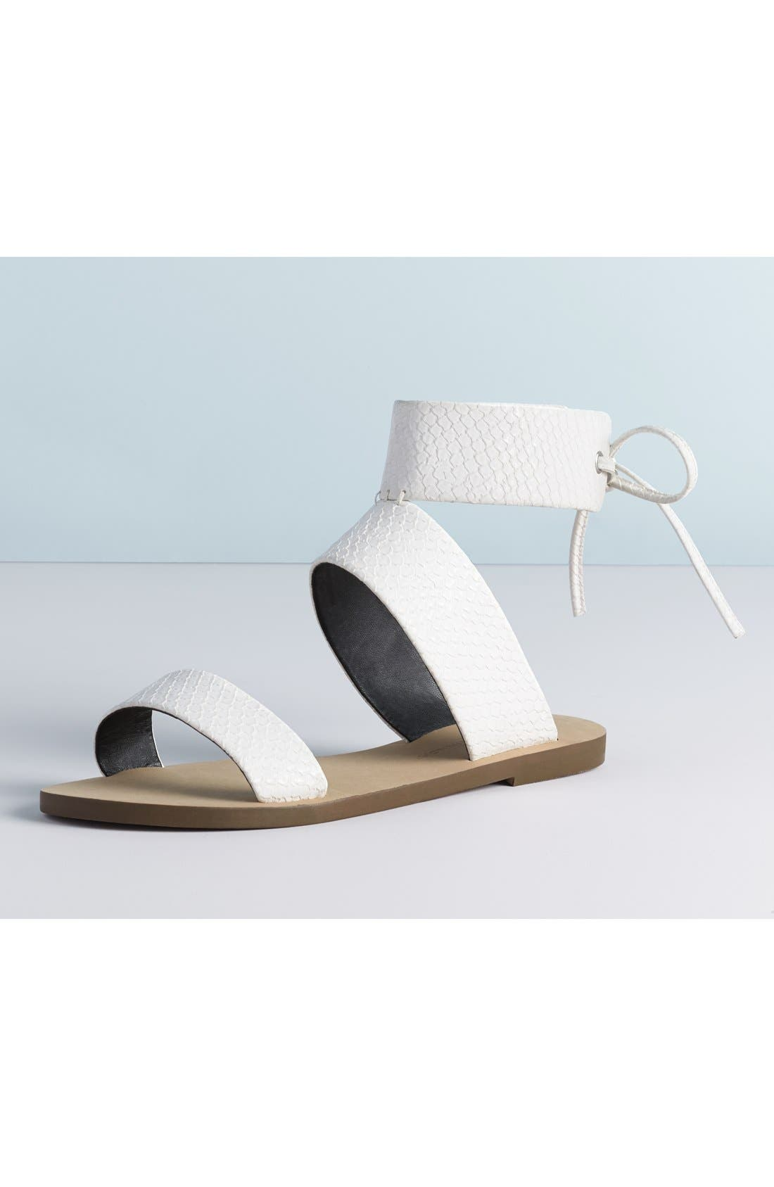 'Emma' Ankle Cuff Sandal,                             Alternate thumbnail 6, color,                             001