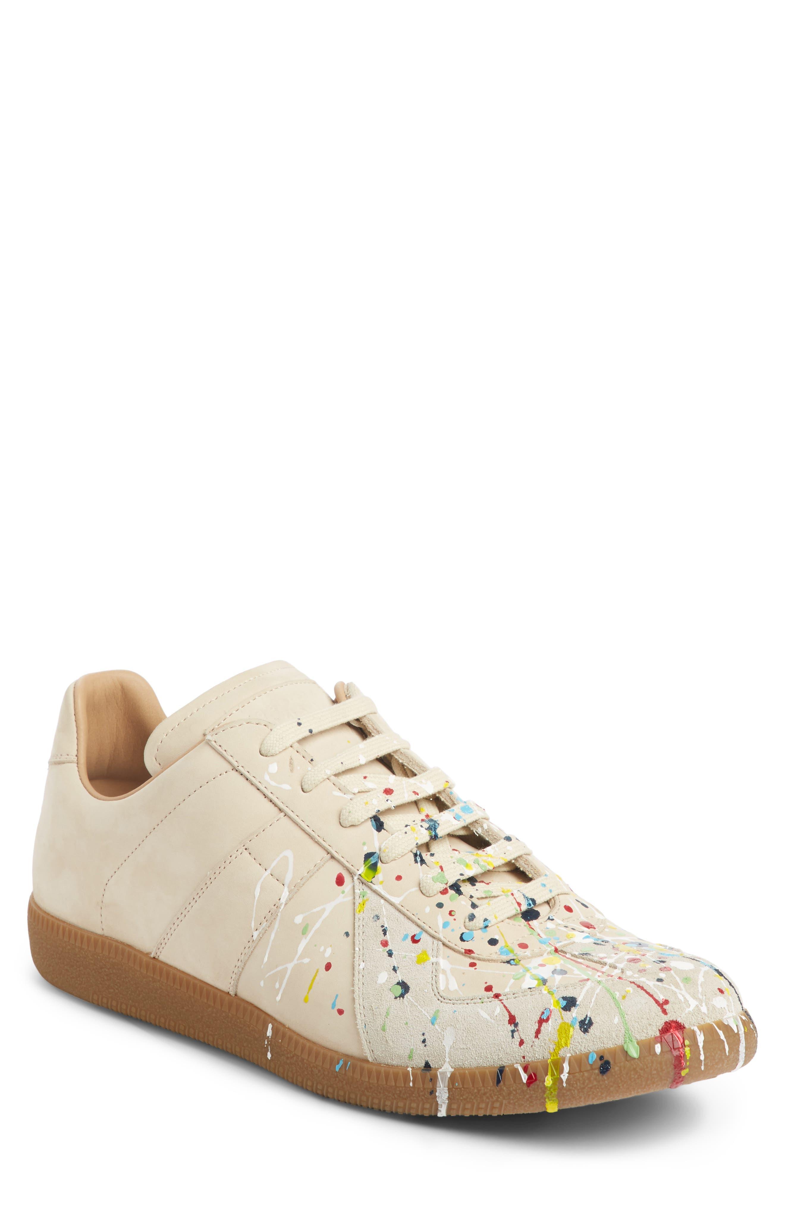 Maison Margiela Replica Low Top Sneaker,                             Main thumbnail 1, color,                             BEIGE / PAINT