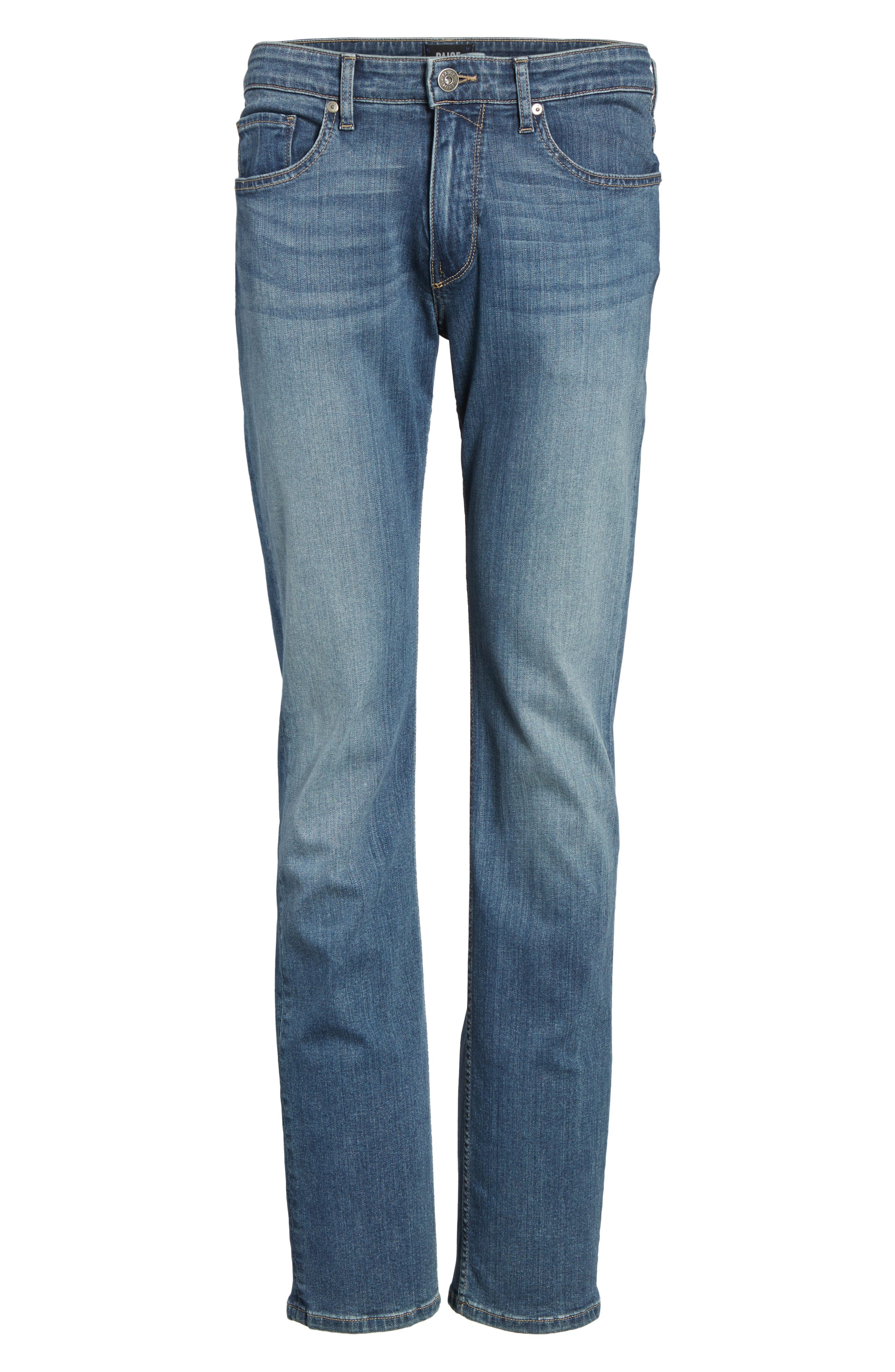 PAIGE,                             Normandie Straight Fit Jeans,                             Alternate thumbnail 6, color,                             ALMONT