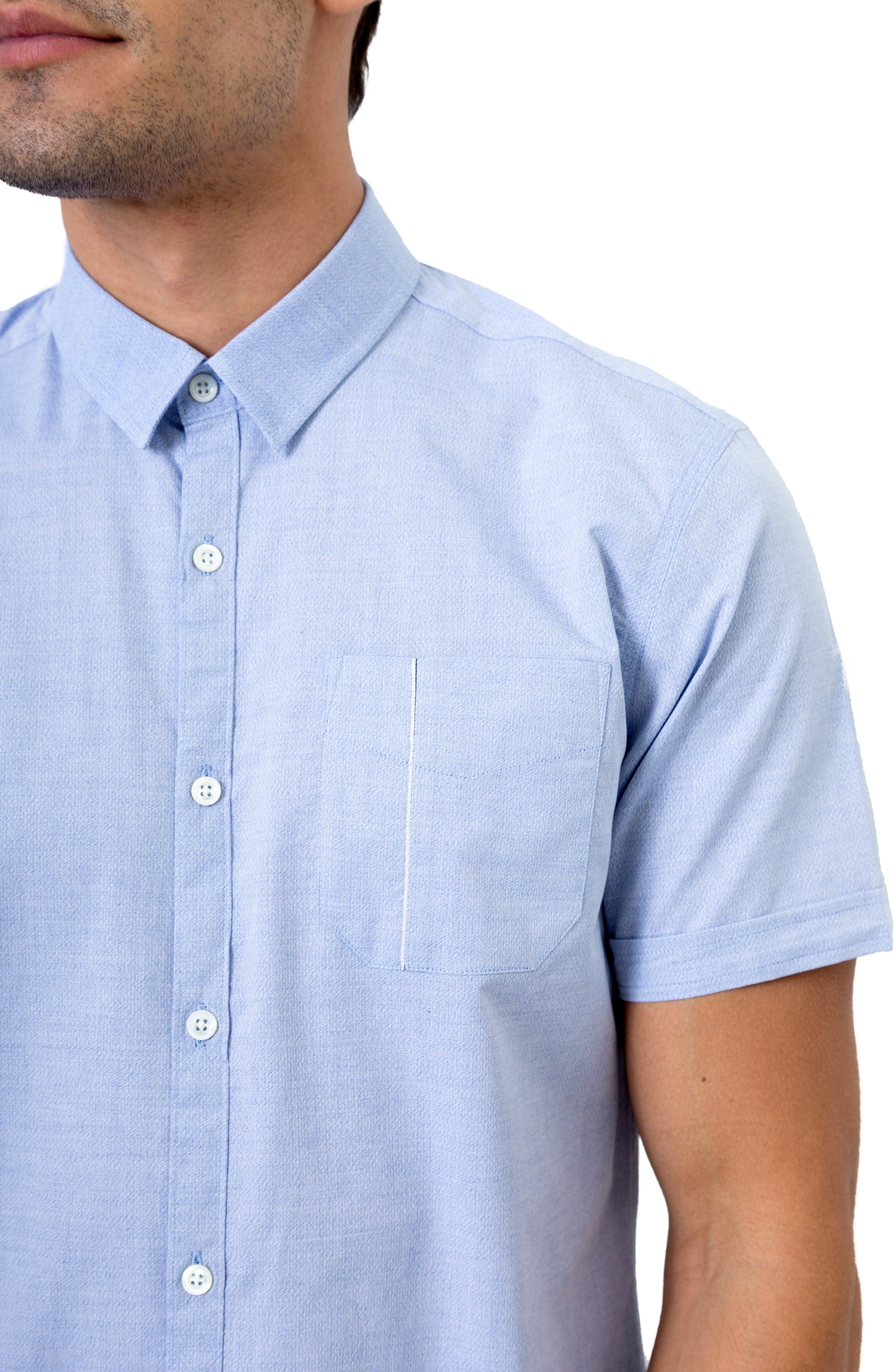 Smile Away Trim Fit Sport Shirt,                             Alternate thumbnail 2, color,                             LIGHT BLUE