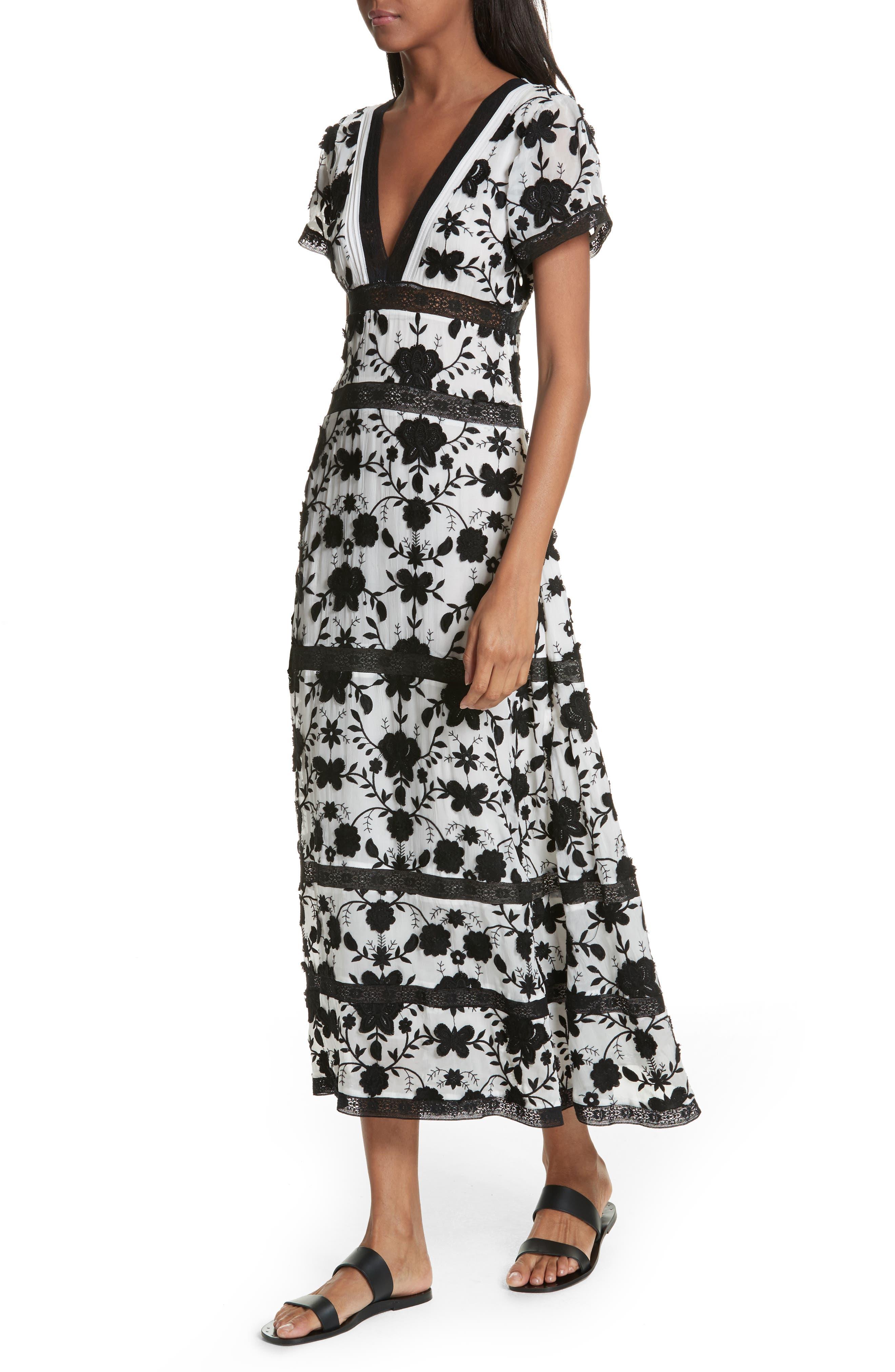 Fusca Floral Print Maxi Dress,                             Alternate thumbnail 4, color,                             018
