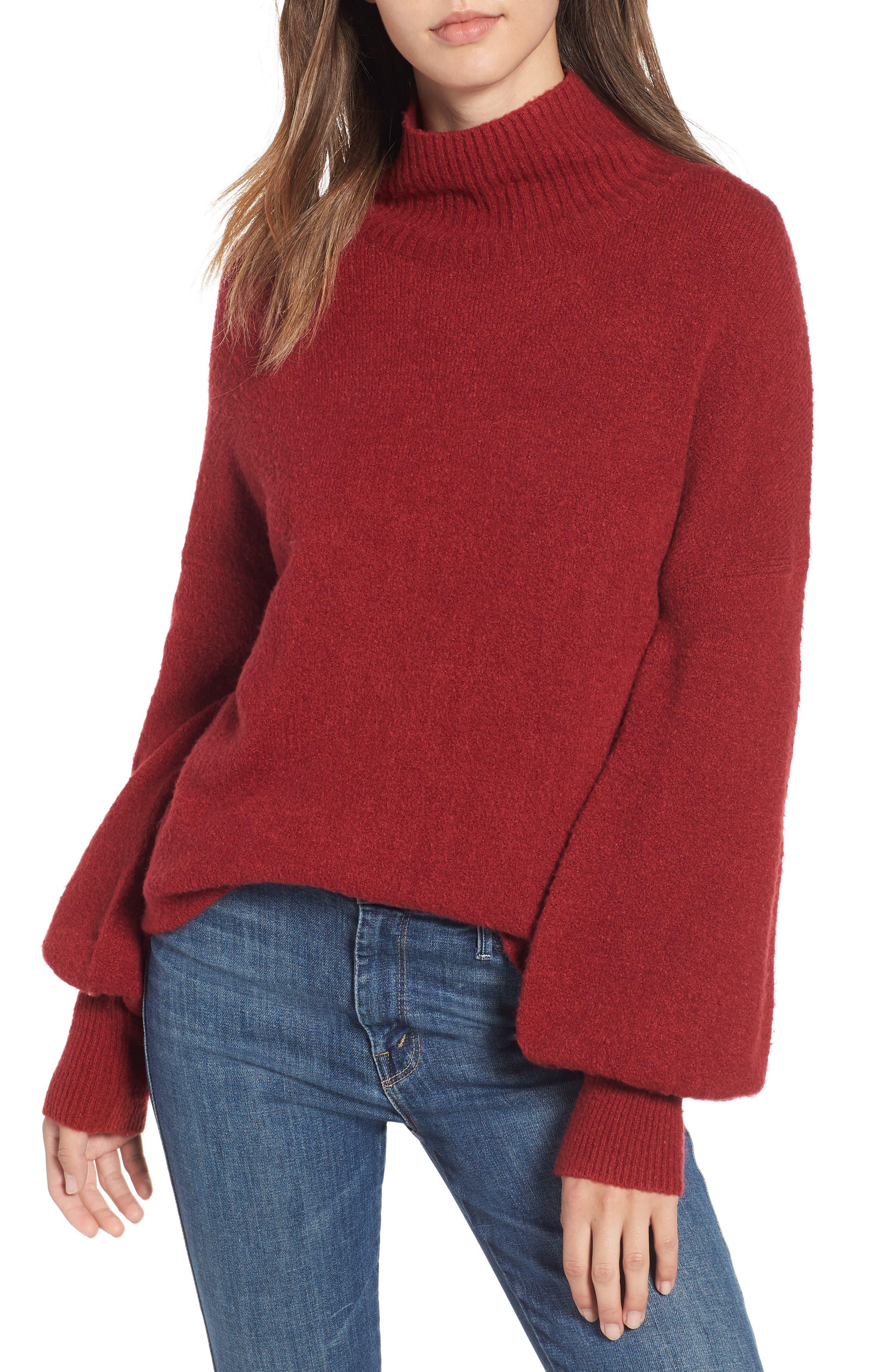 Orla Sweater,                             Main thumbnail 1, color,                             DEEP FRAMBOISE