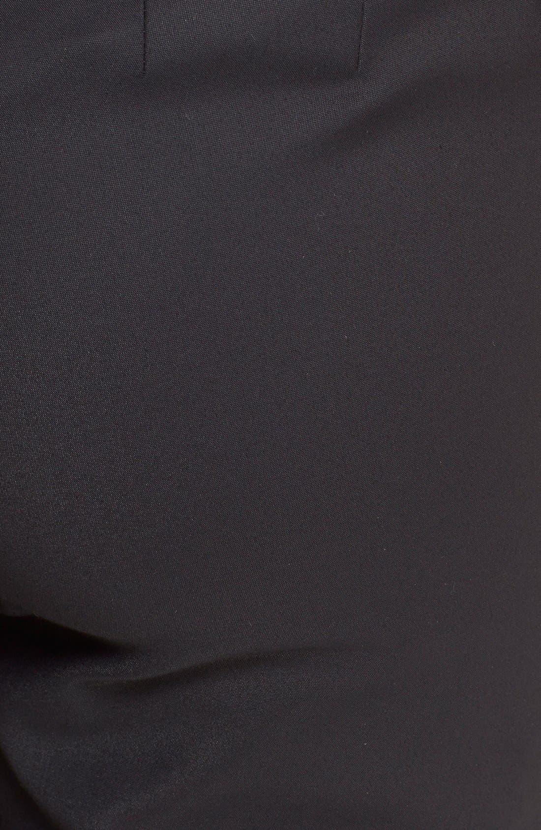 'Jennifer' Stretch Micro Ottoman Ankle Pants,                             Alternate thumbnail 6, color,                             CAVIAR
