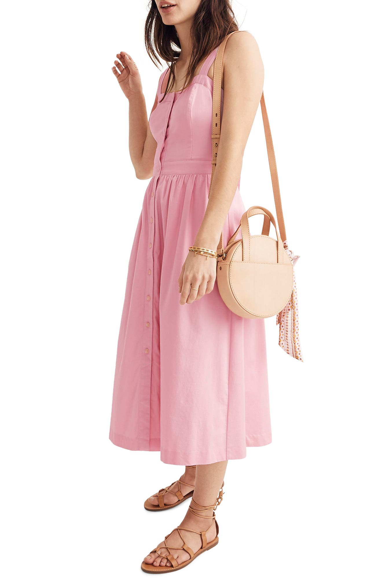Pink Fleur Bow Back Dress,                             Alternate thumbnail 2, color,                             650