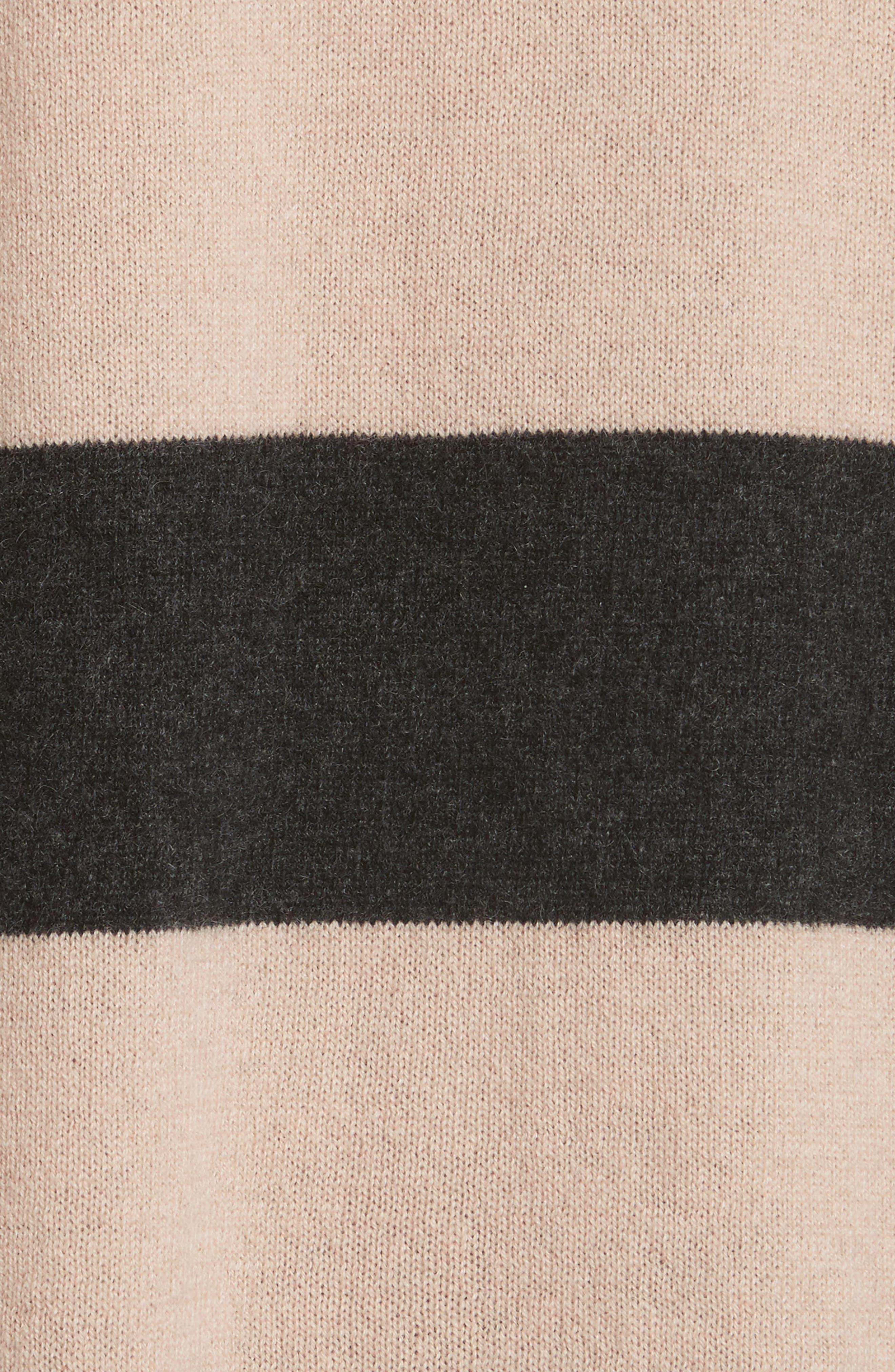 Lucinda Stripe Cashmere Sweater,                             Alternate thumbnail 5, color,                             020