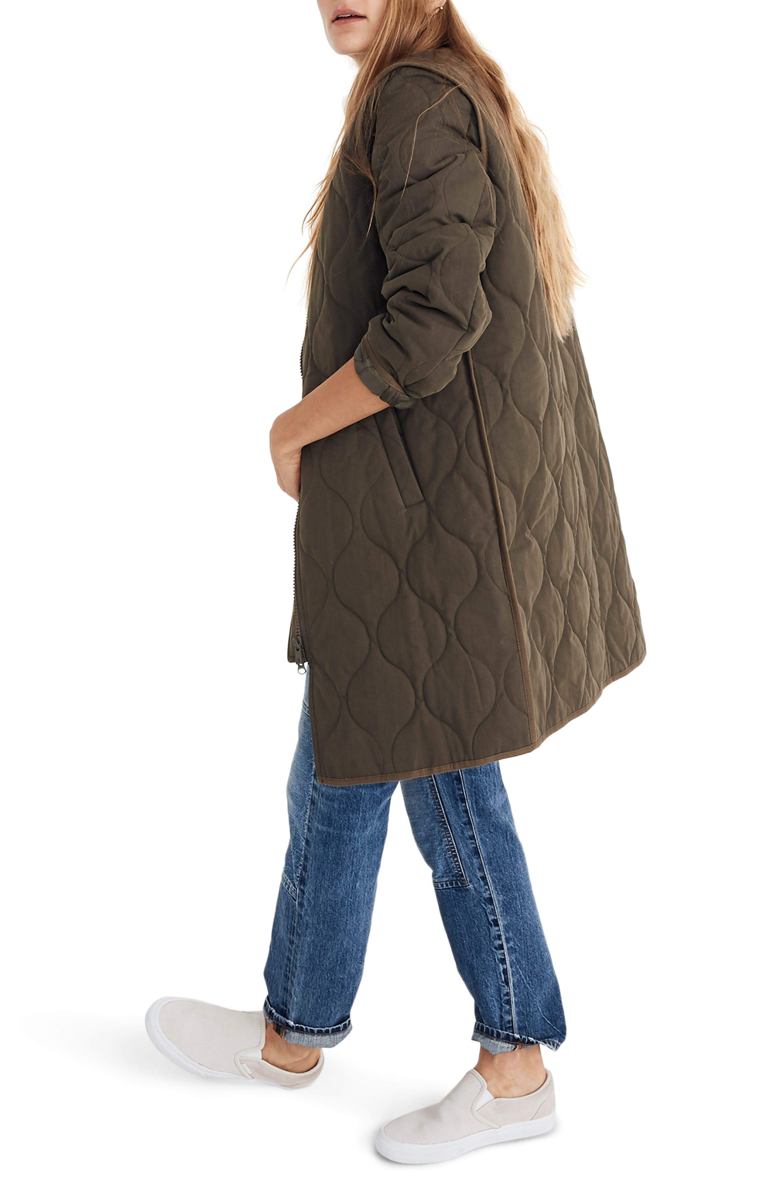 Quilted Military Coat,                             Alternate thumbnail 2, color,                             300