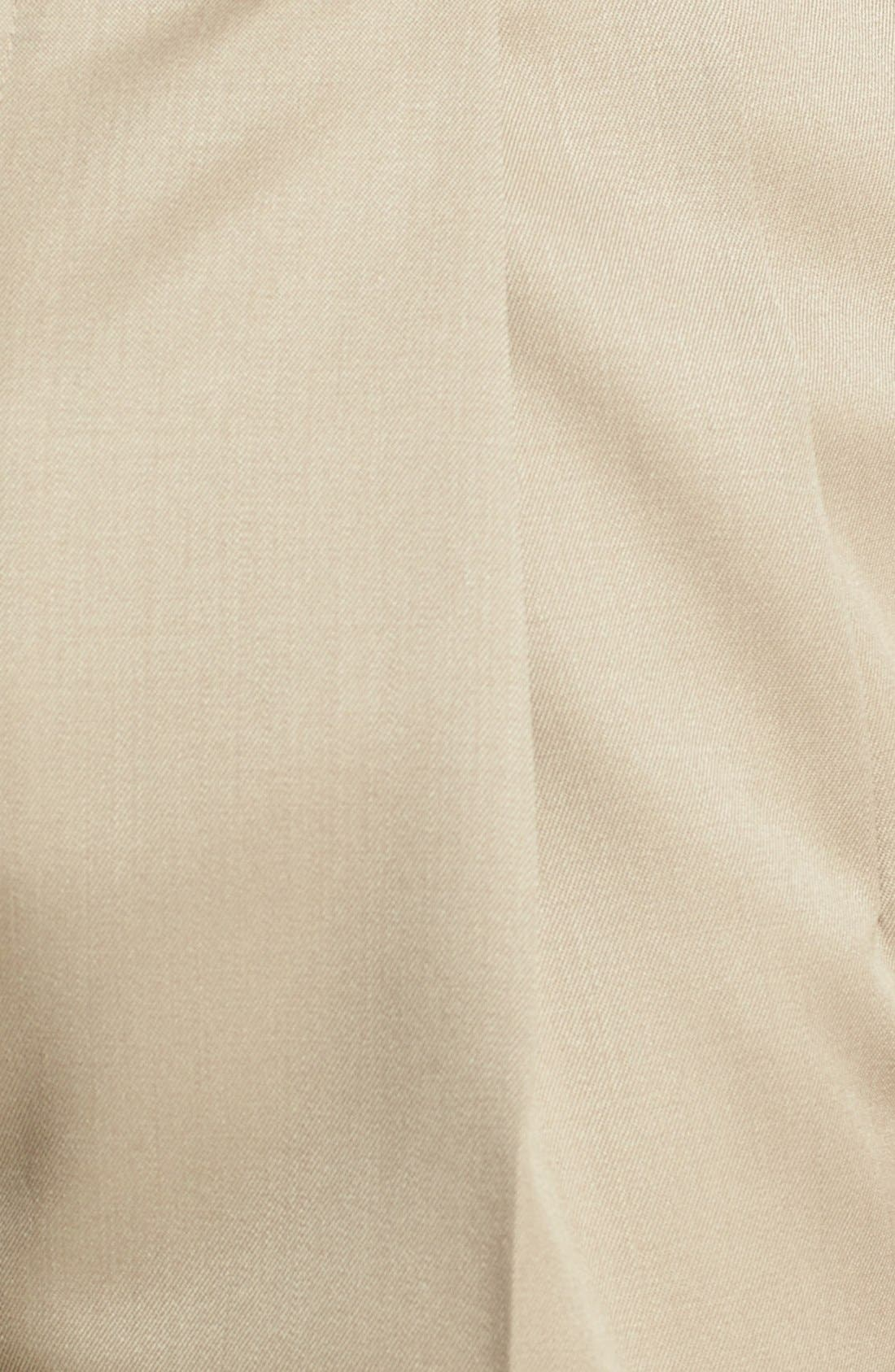 Pleated Super 100s Worsted Wool Trousers,                             Alternate thumbnail 22, color,