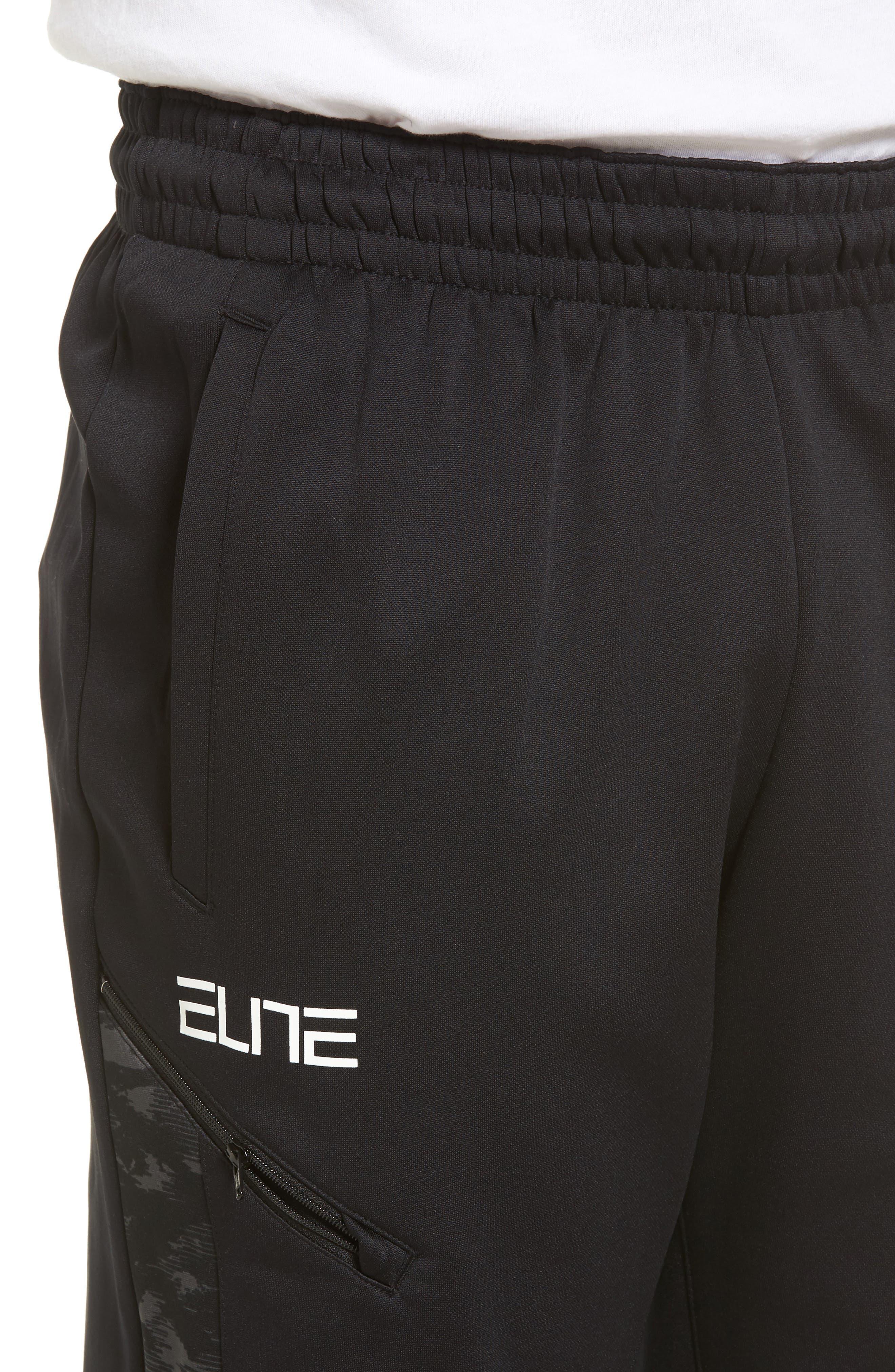 Therma Elite Basketball Pants,                             Alternate thumbnail 4, color,                             010
