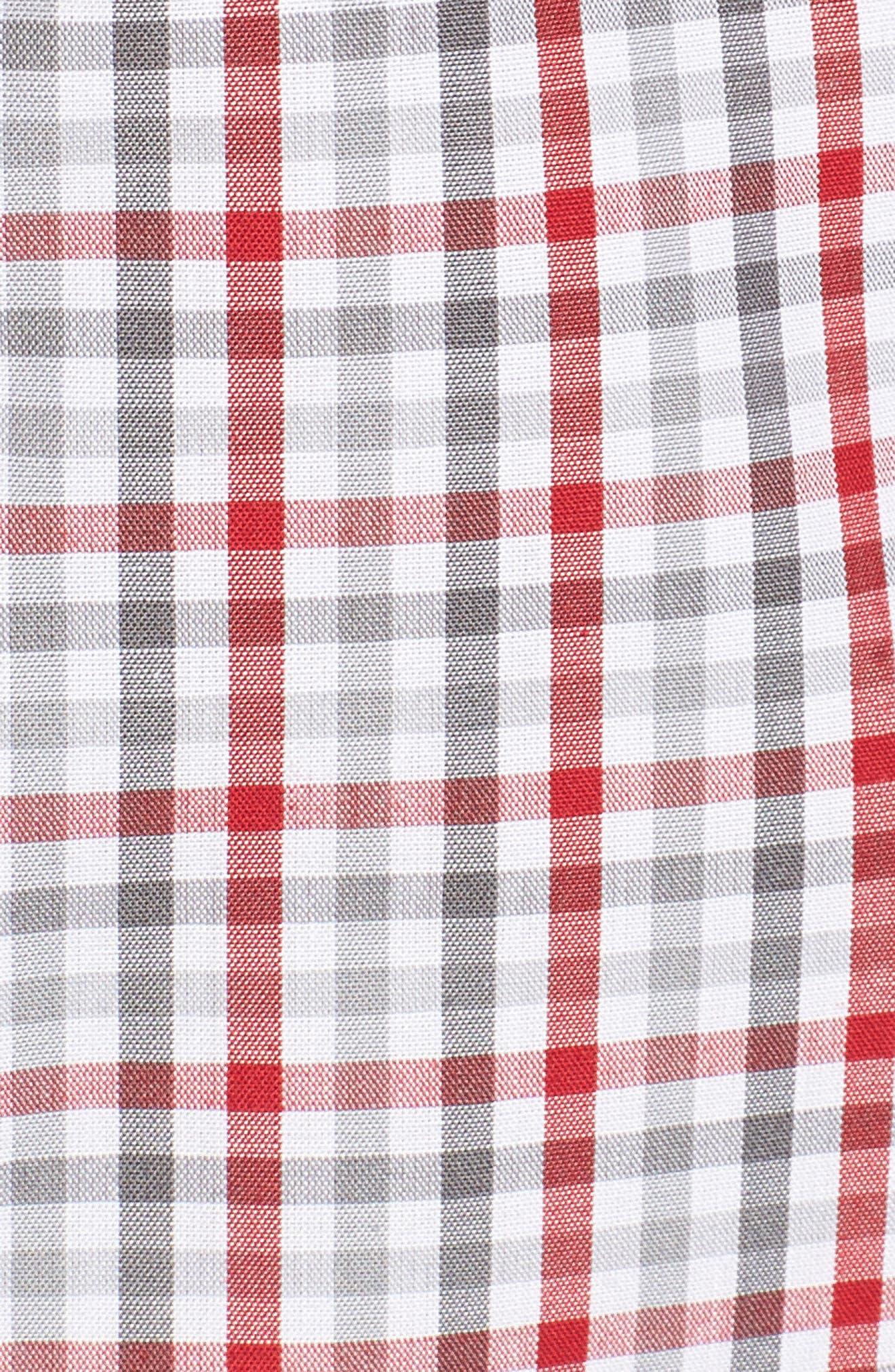 Washington - Gilman Regular Fit Plaid Sport Shirt,                             Alternate thumbnail 5, color,                             CARDINAL RED