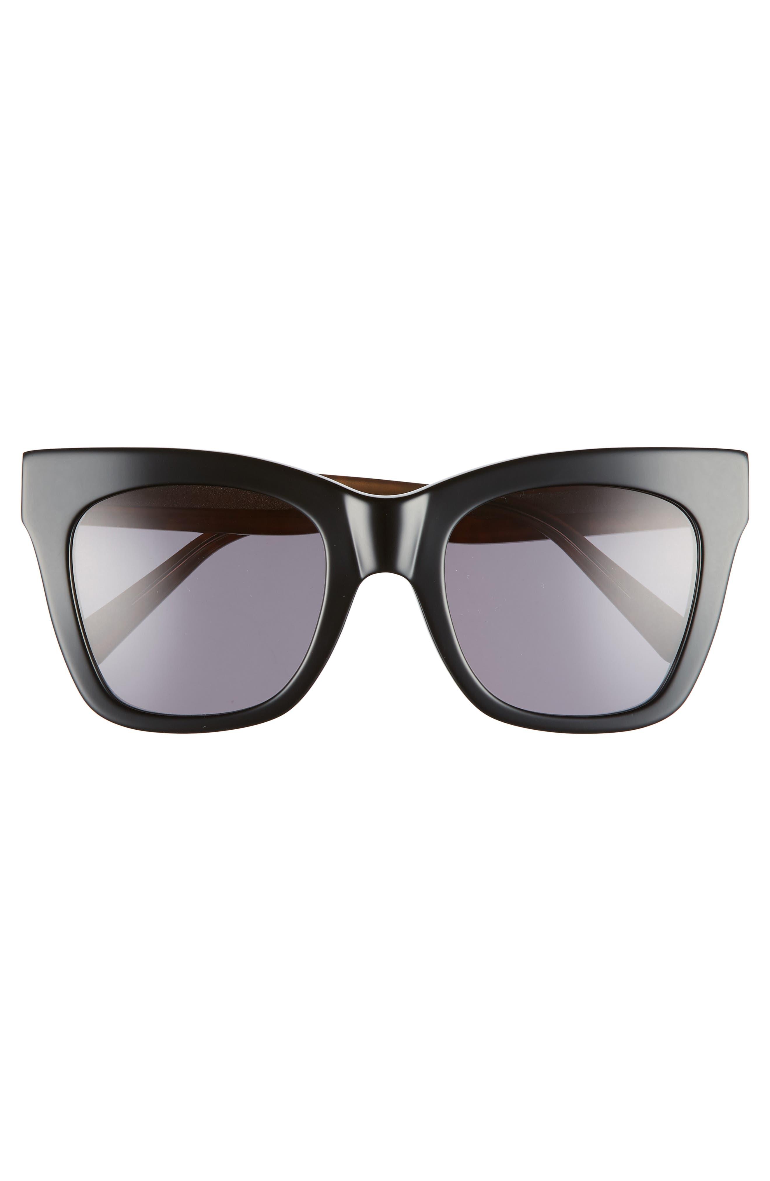 D'BLANC Beach Vida 52mm Sunglasses,                             Alternate thumbnail 3, color,                             BLACK CHEETAH/ GREY