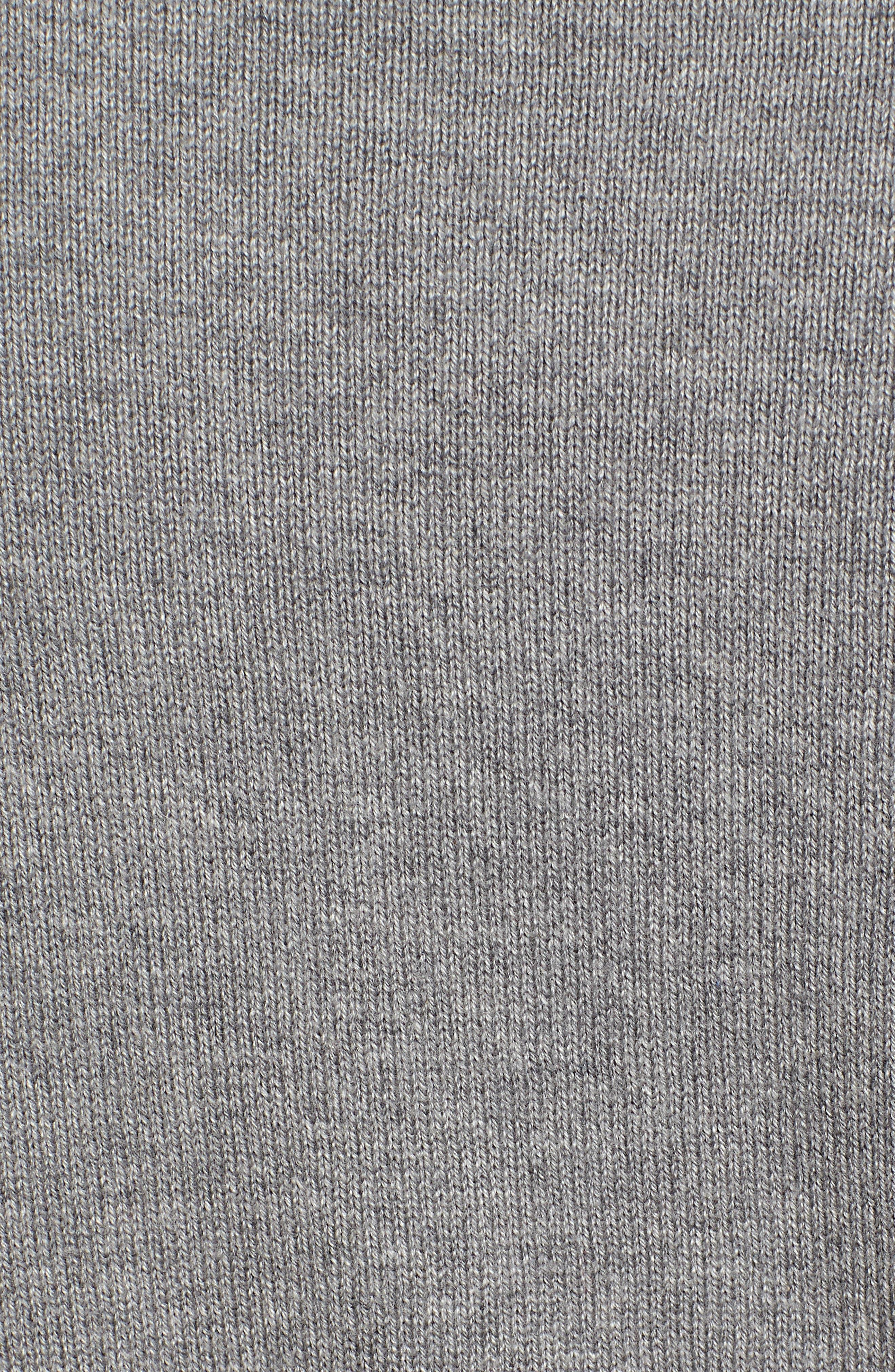 Cotton & Cashmere V-Neck Sweater,                             Alternate thumbnail 5, color,                             GRAY HEATHER